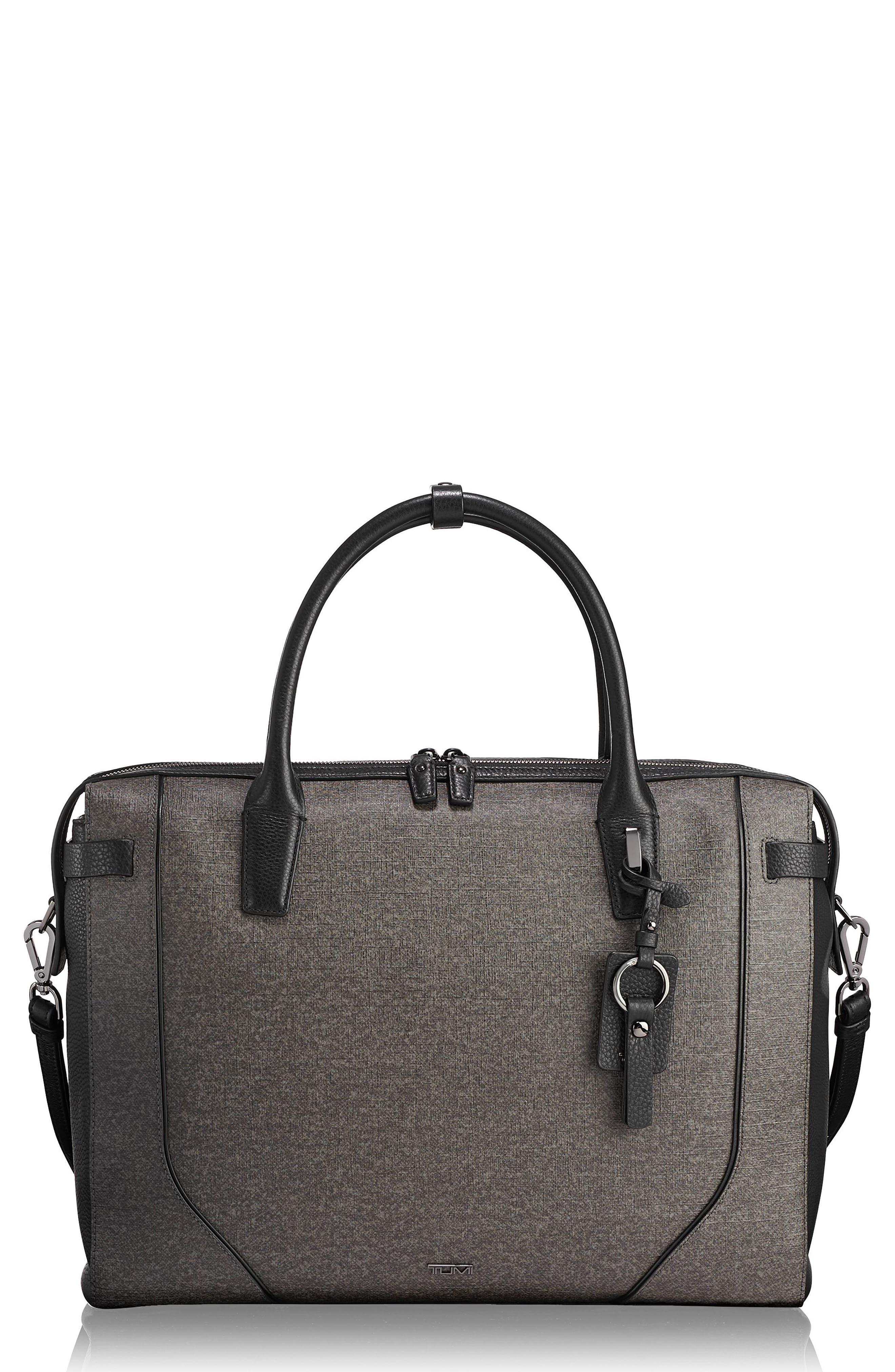 Stanton Irina Laptop Commuter Briefcase - Grey in Earl Grey