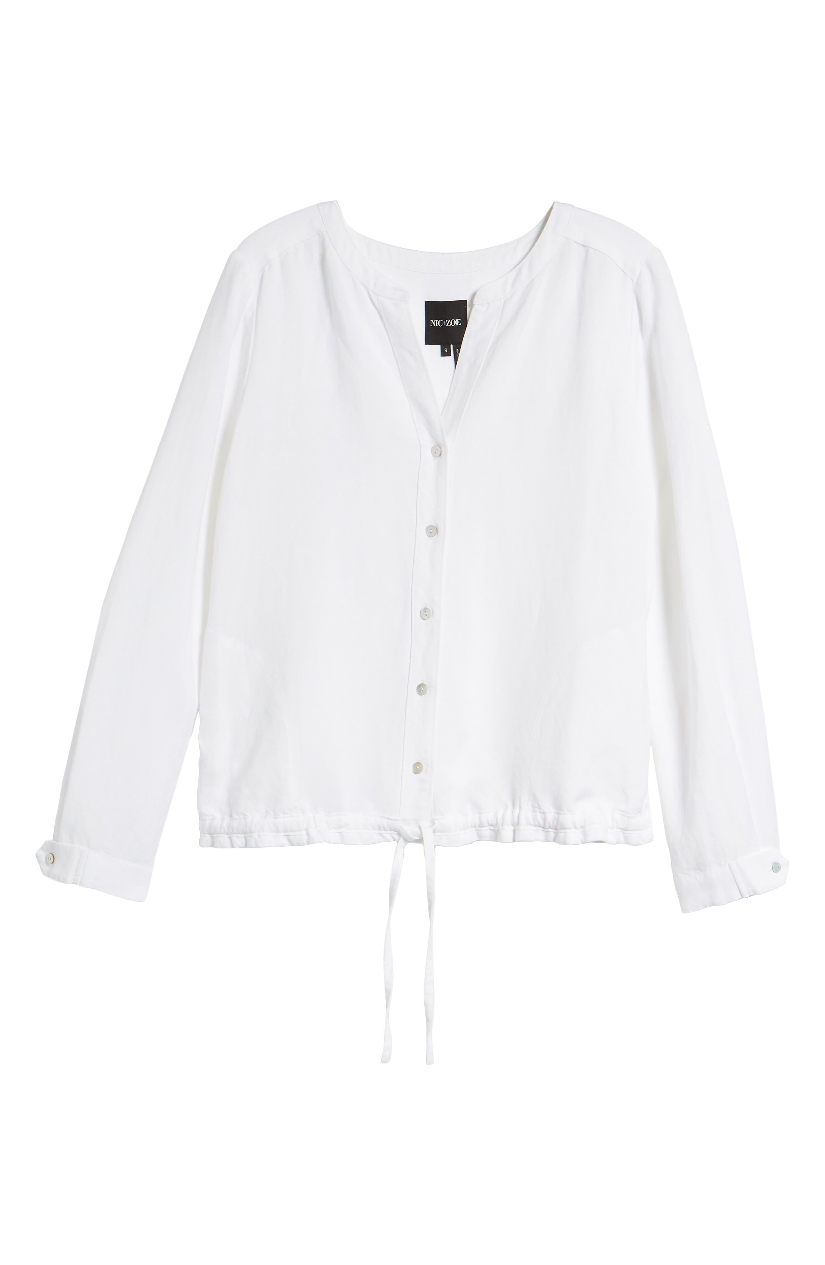 Homebound Linen Blend Drawstring Jacket,                             Alternate thumbnail 6, color,                             PAPER WHITE