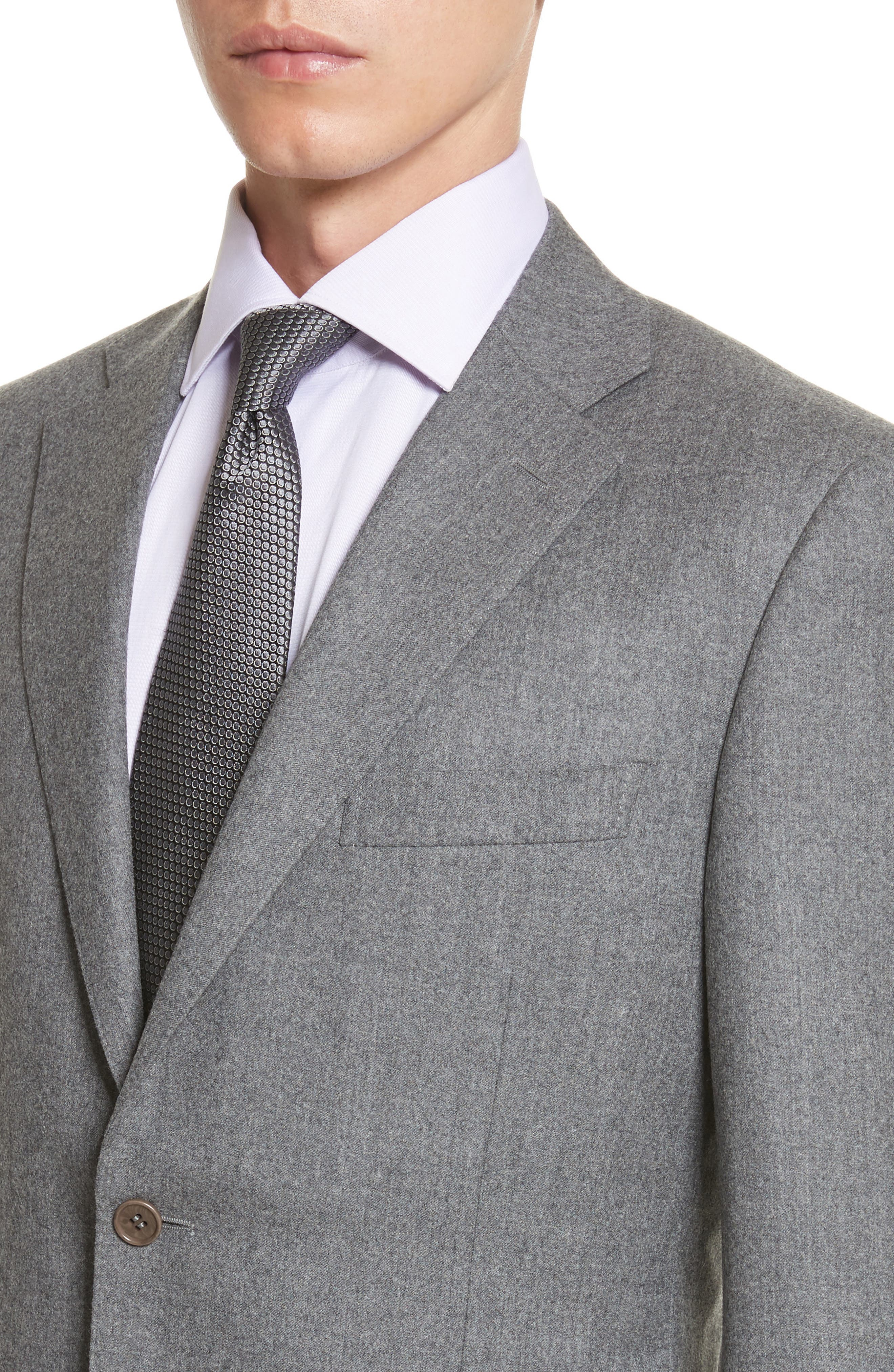 Classic Fit Solid Wool Suit,                             Alternate thumbnail 4, color,