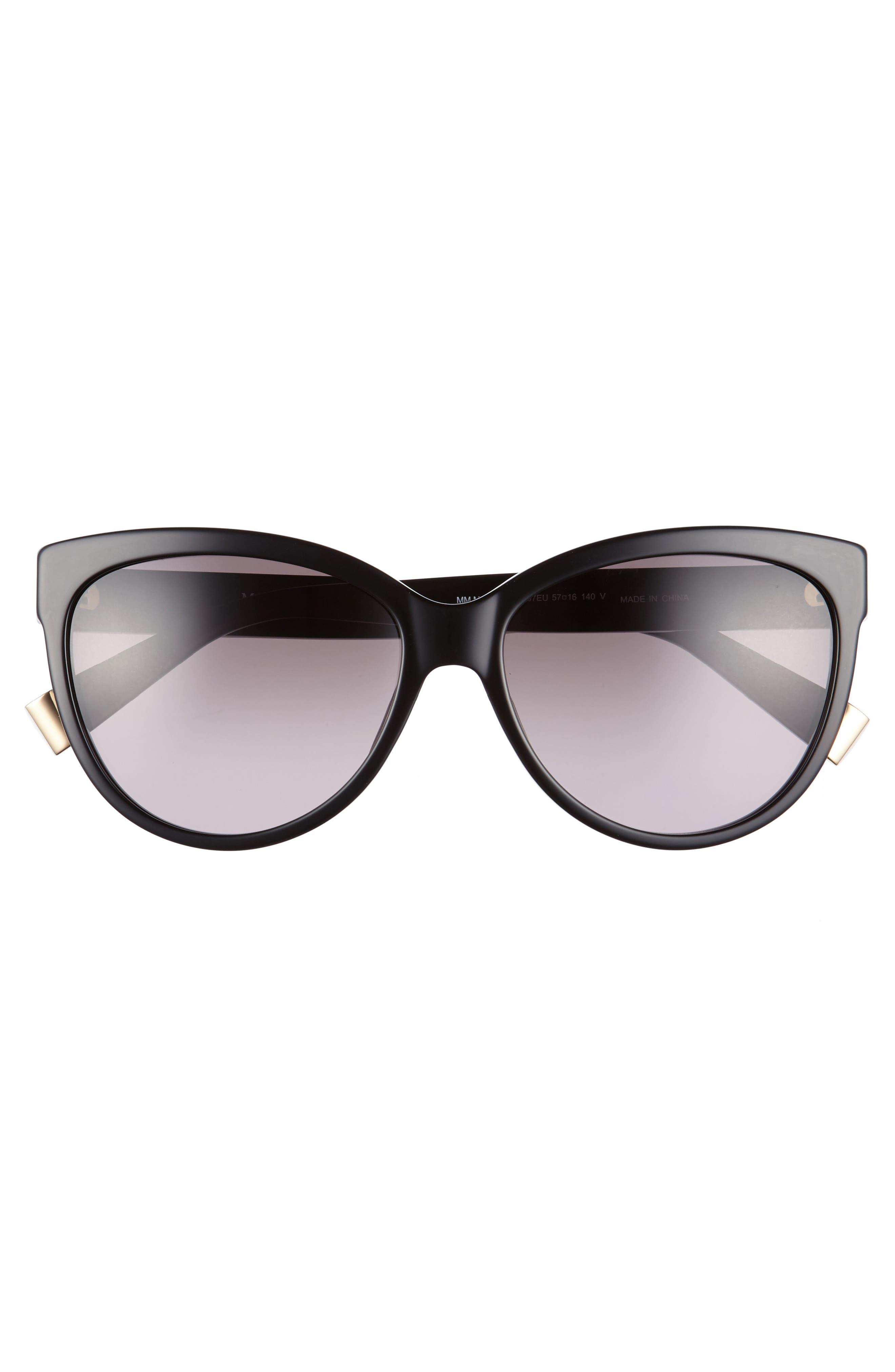 Moderii 57mm Gradient Cat Eye Sunglasses,                             Alternate thumbnail 3, color,                             001