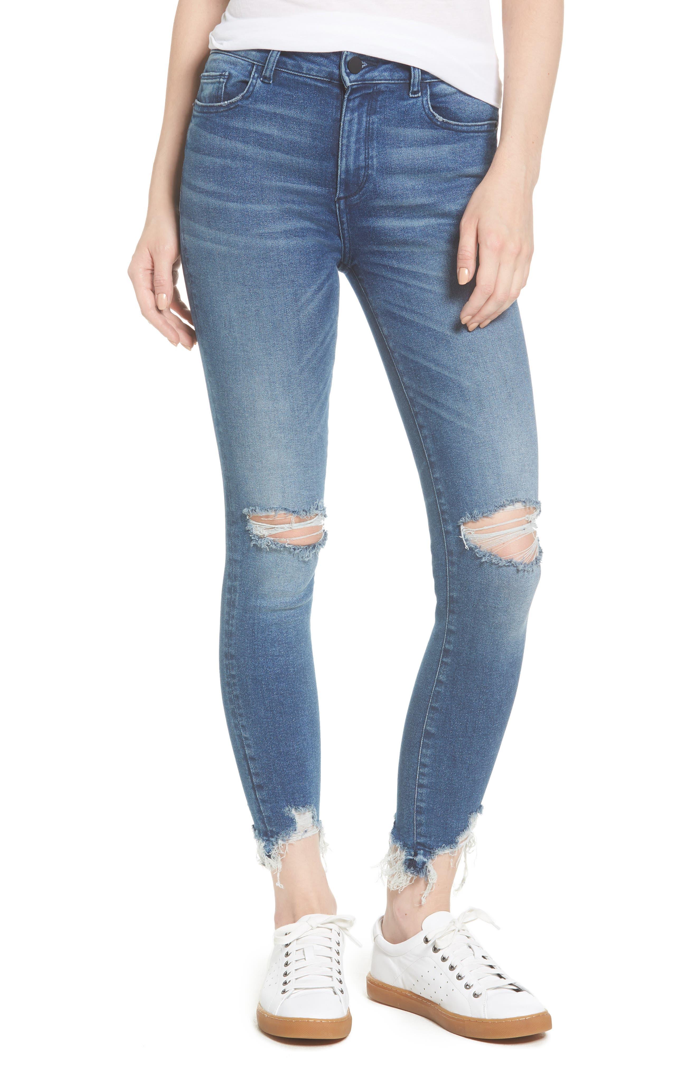 Farrow Instaslim High Waist Ankle Skinny Jeans,                         Main,                         color, LARAMIE