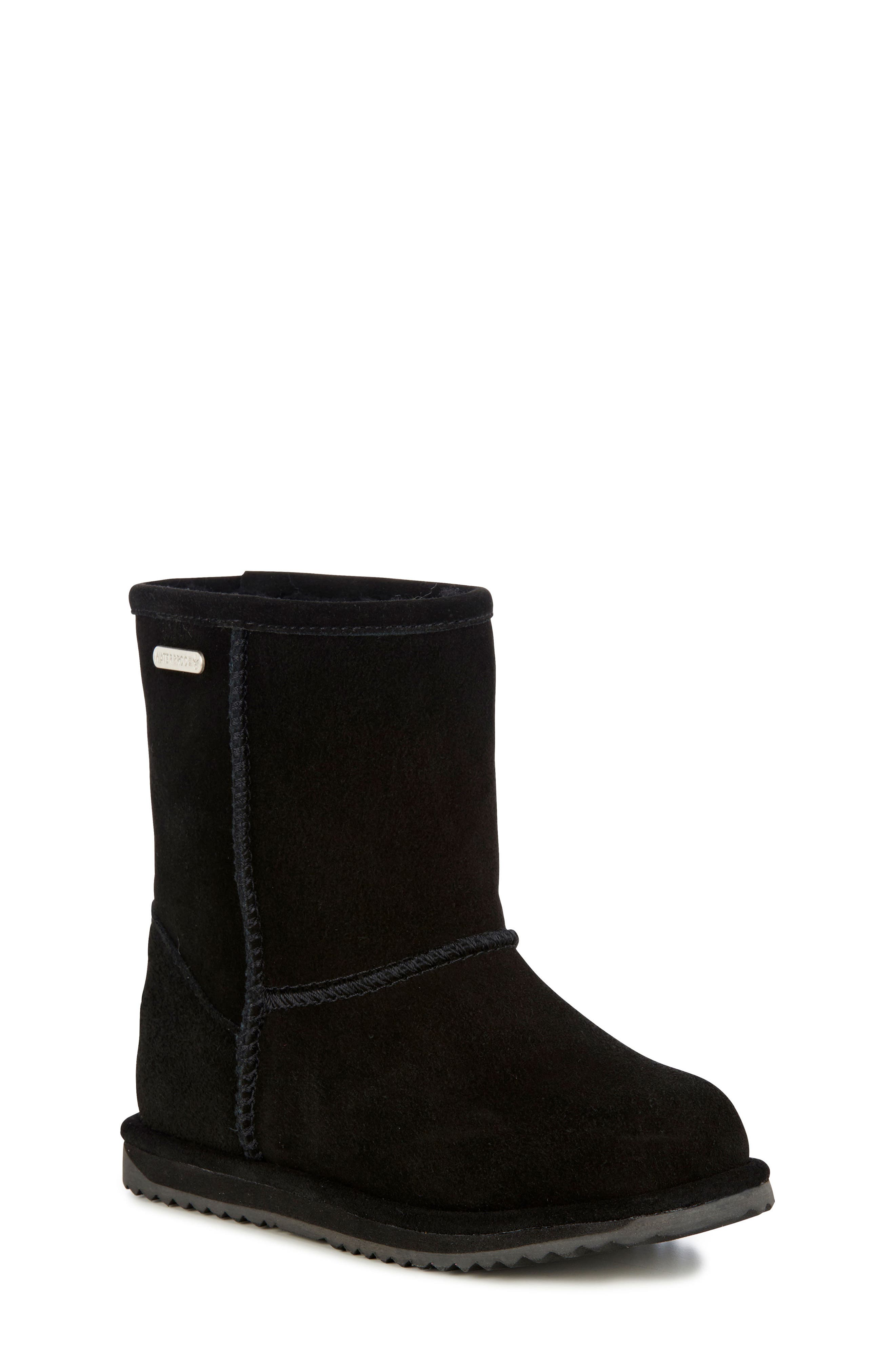 Brumby Waterproof Boot,                         Main,                         color, BLACK SUEDE