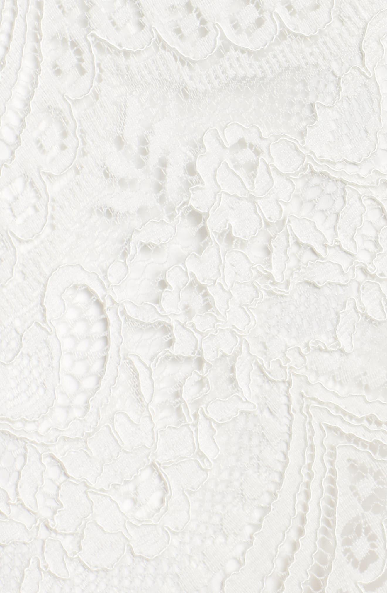 Lace-Up Cold Shoulder Gown,                             Alternate thumbnail 5, color,                             100