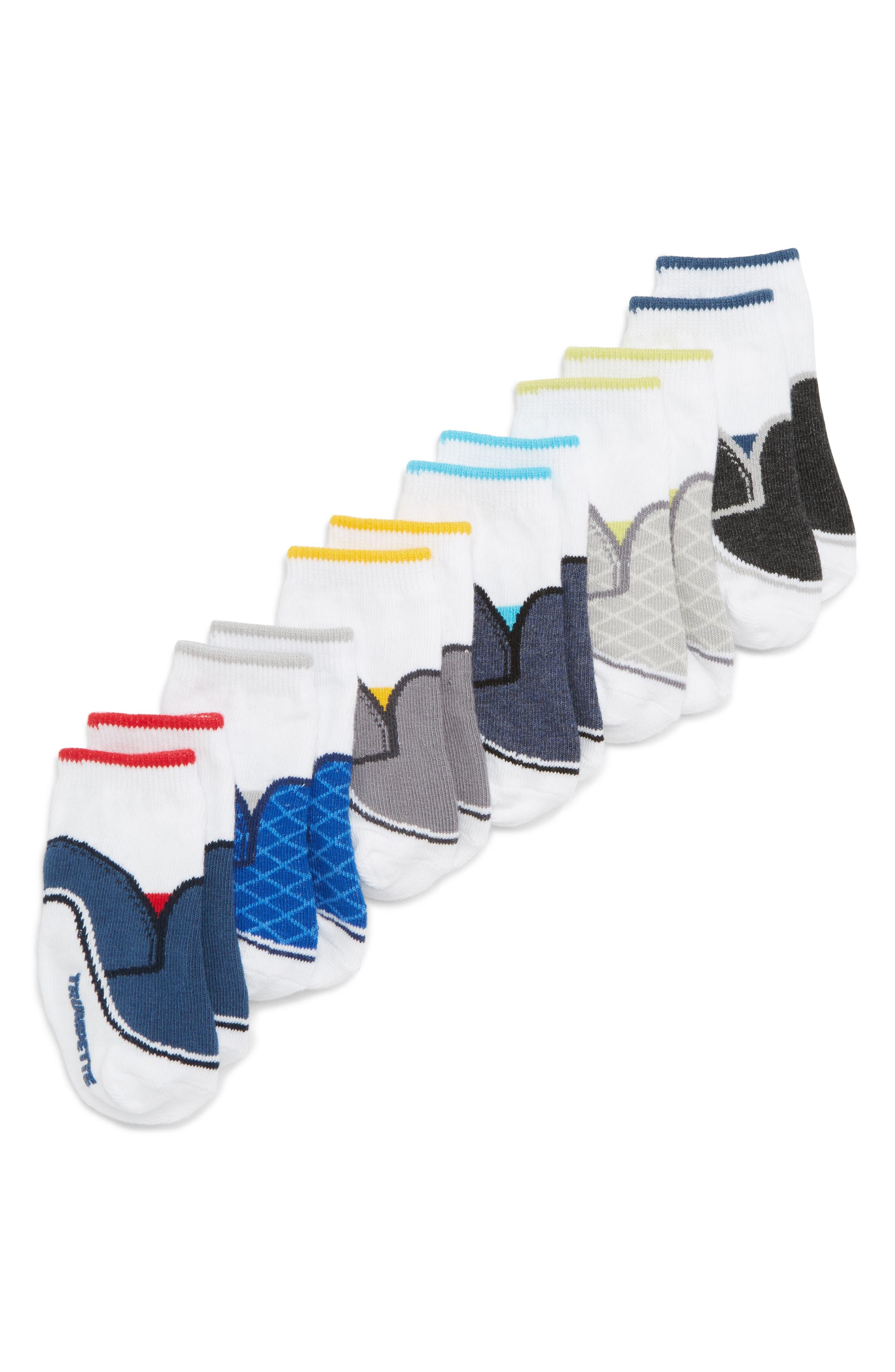 Preston 6-Pack Socks,                             Alternate thumbnail 2, color,                             ASSORTED NEUTRAL