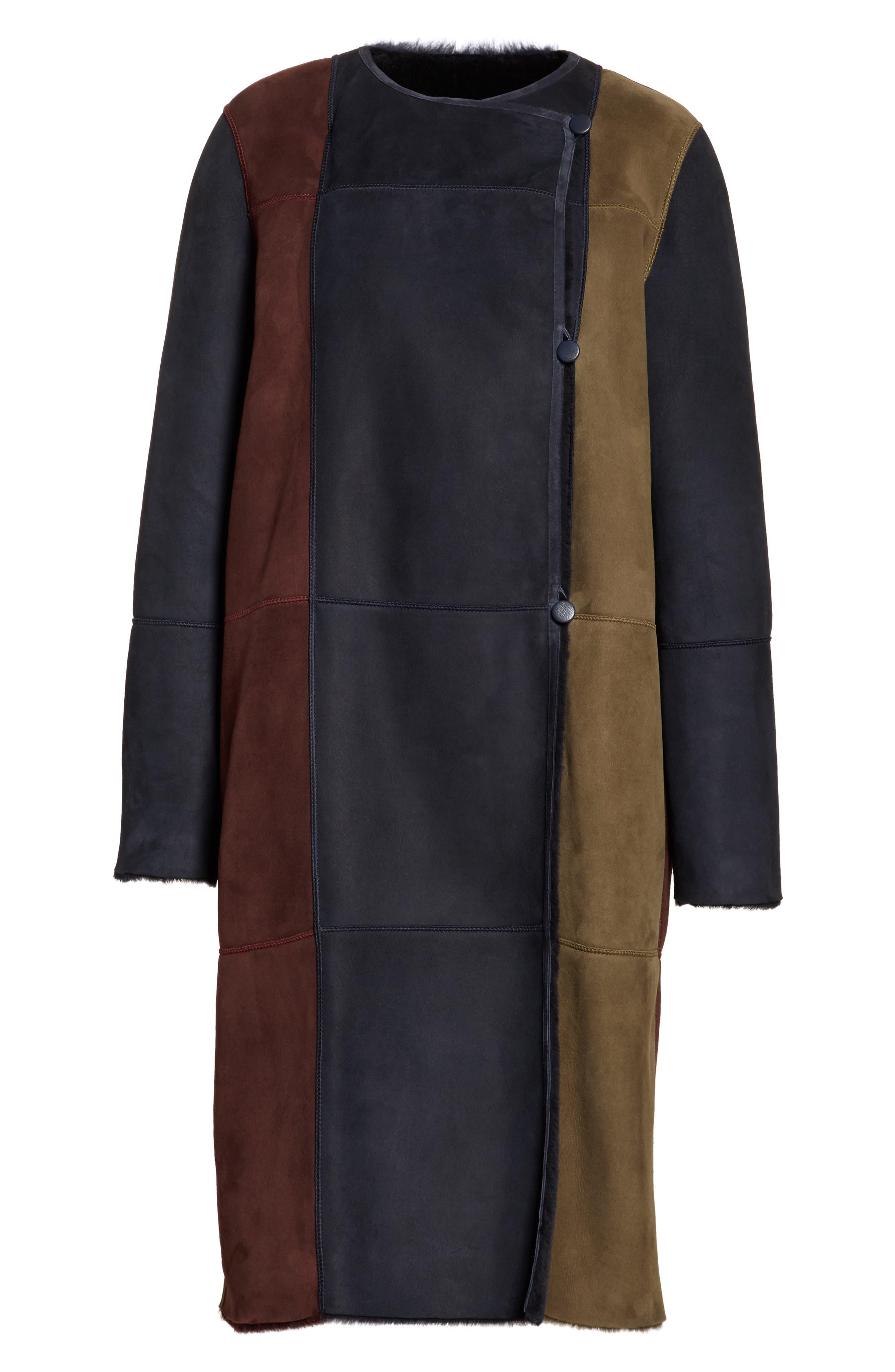Robyn Reversible Genuine Shearling Coat,                             Alternate thumbnail 6, color,                             438
