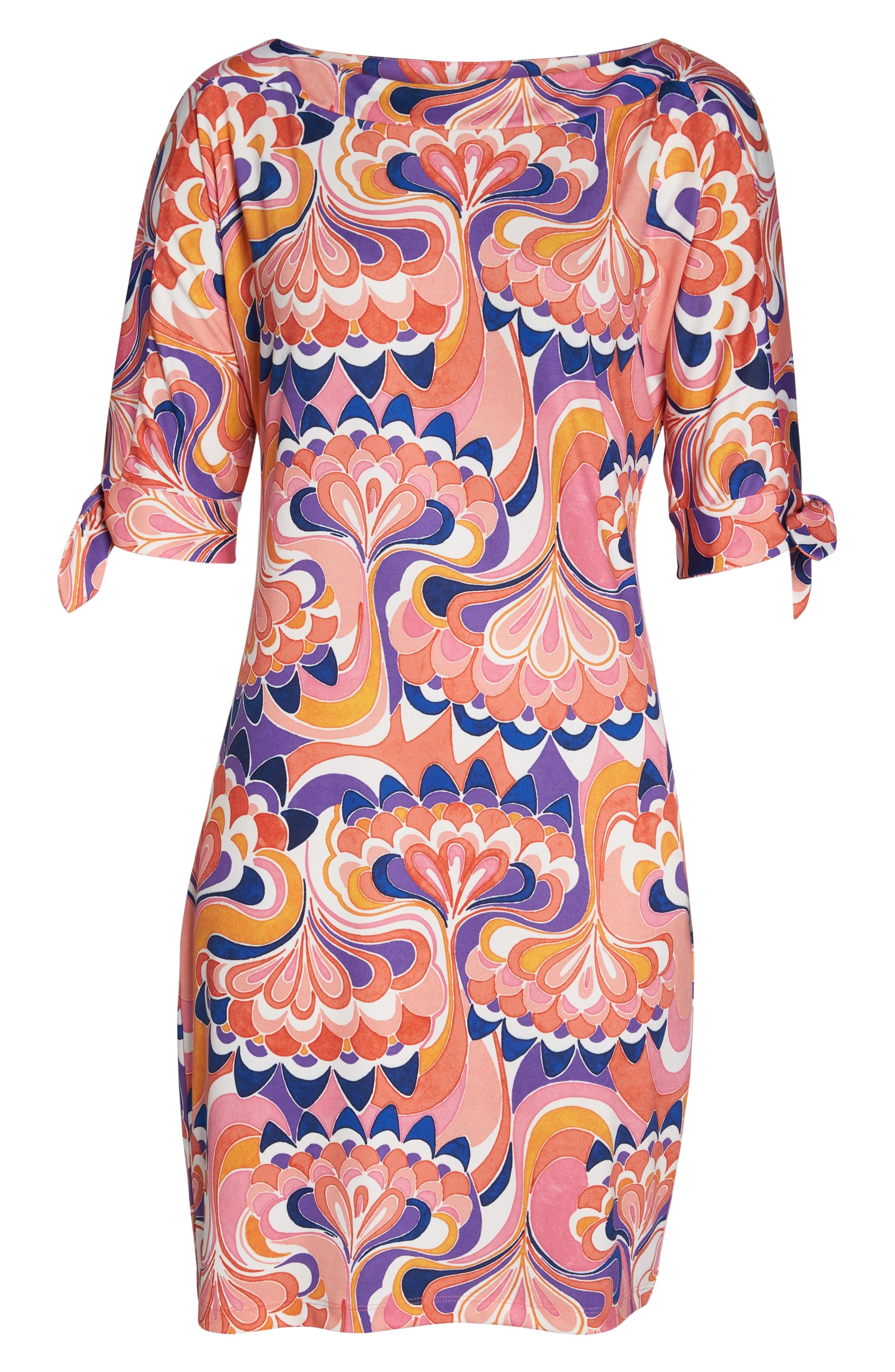 Vinet Floral Jersey Dress,                             Alternate thumbnail 12, color,