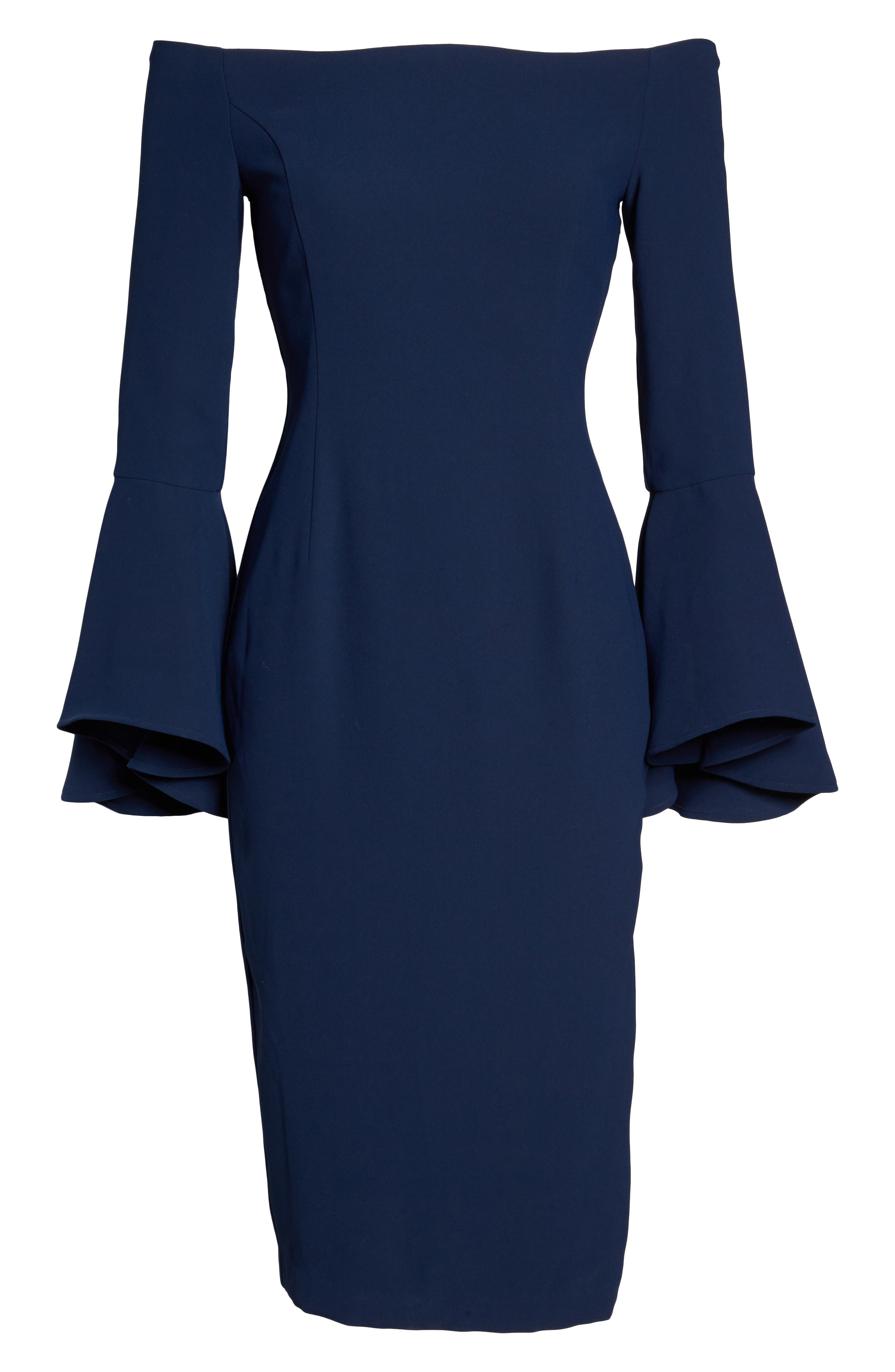 'Solange' Off the Shoulder Midi Dress,                             Alternate thumbnail 21, color,