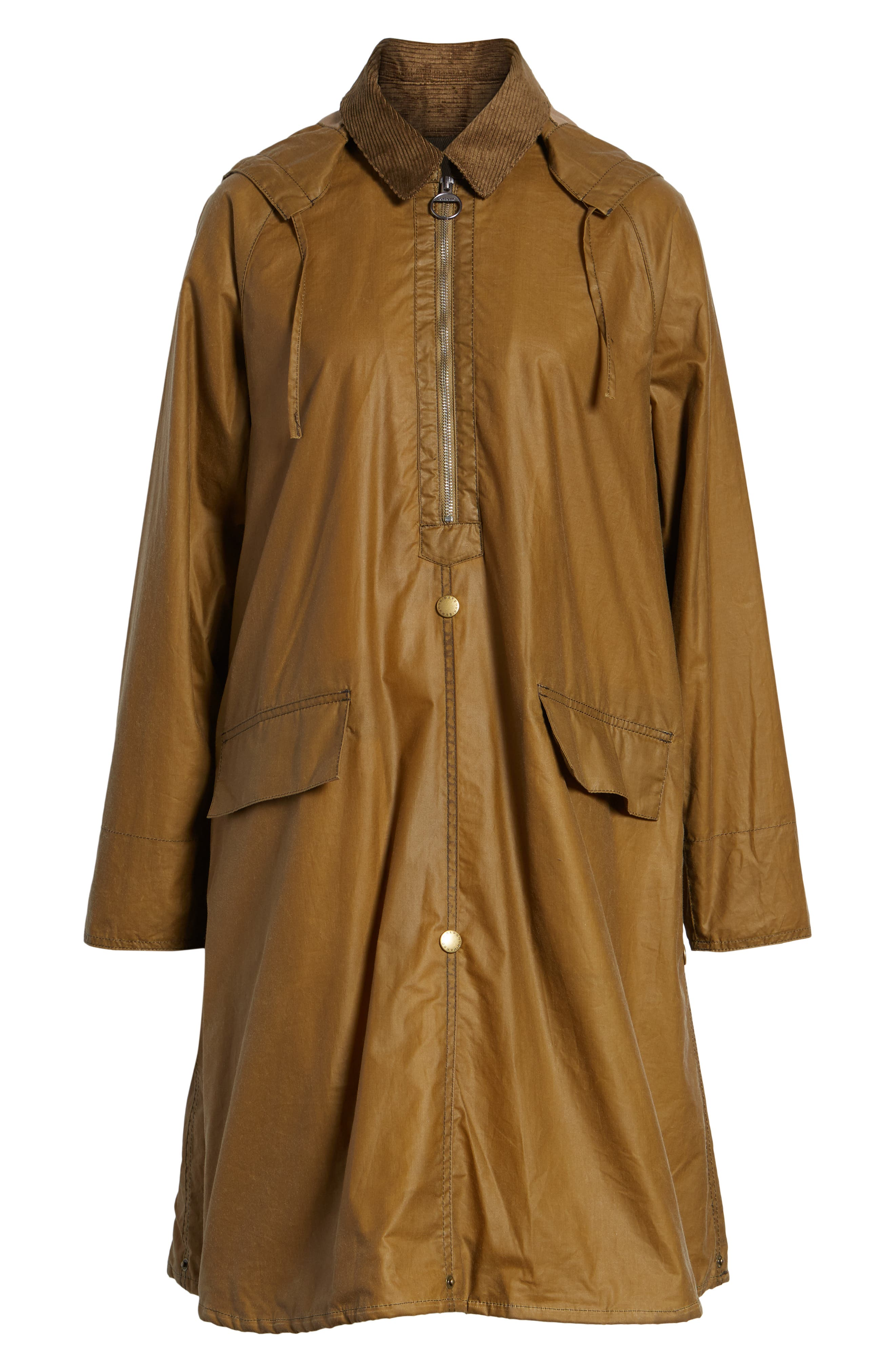 Margaret Howell Water Resistant Waxed Cotton Poncho,                             Alternate thumbnail 6, color,                             SAND