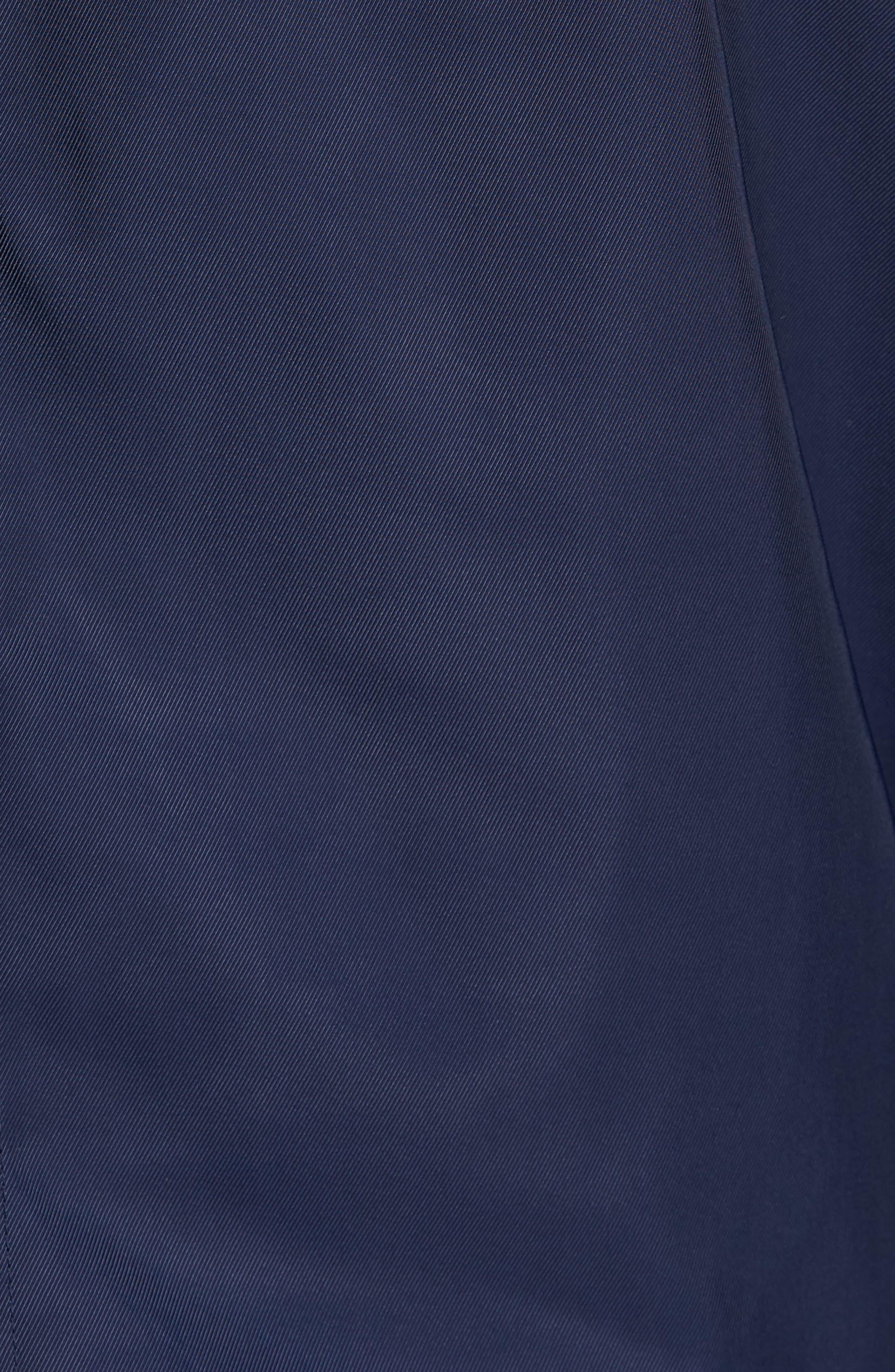 Faux Shearling Trim Bomber Jacket,                             Alternate thumbnail 6, color,