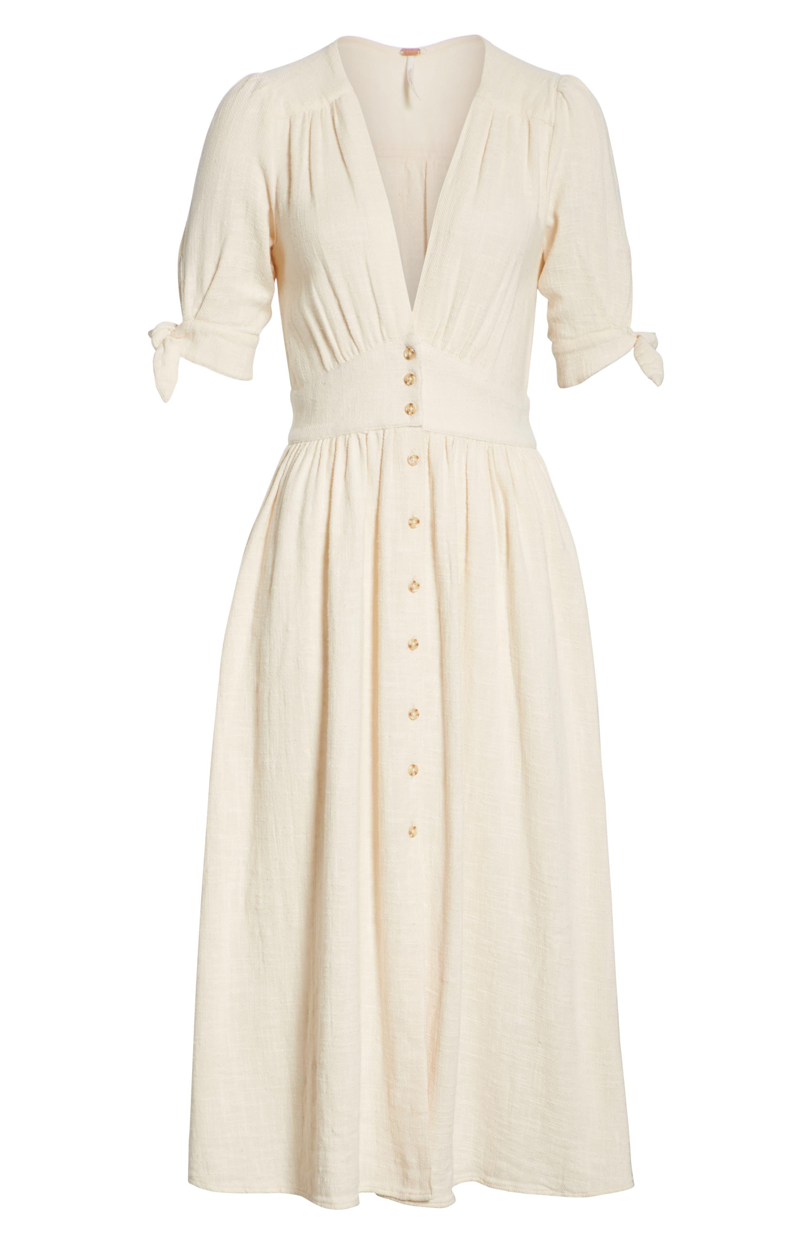 Love of My Life Midi Dress,                             Alternate thumbnail 8, color,                             IVORY