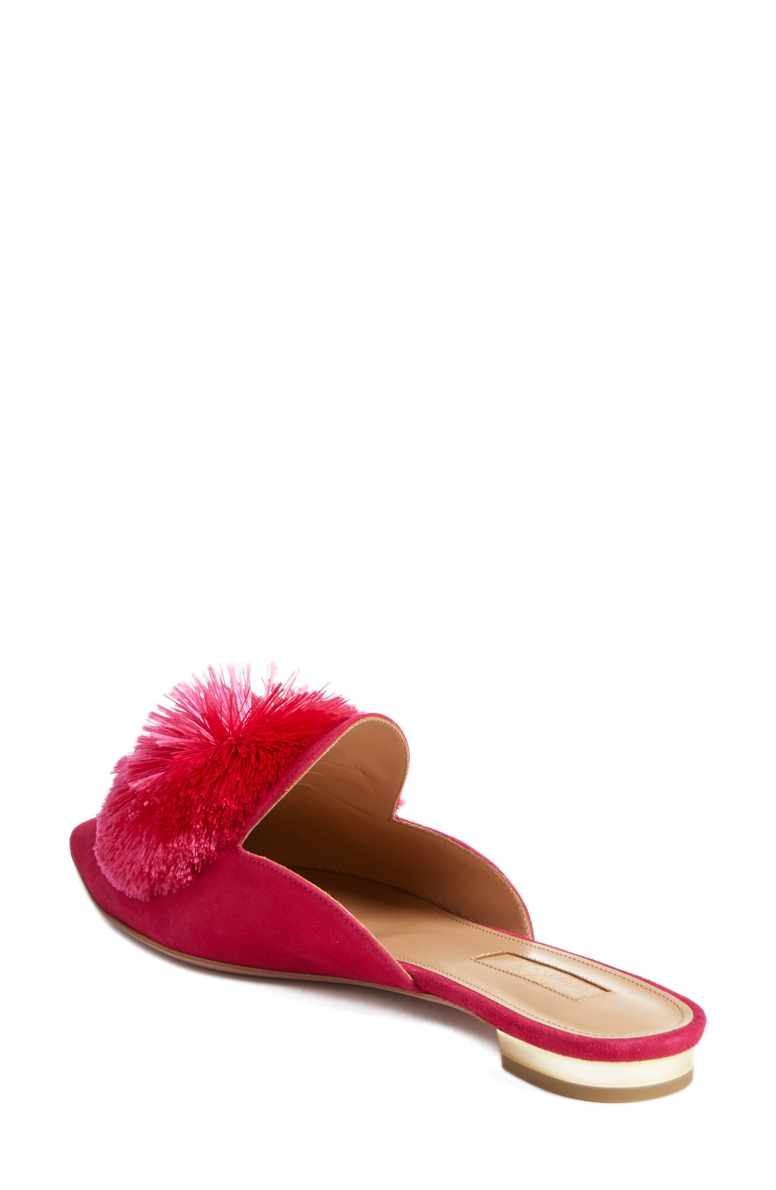 Powder Puff Pointy Toe Mule,                             Alternate thumbnail 2, color,                             CABARET PINK