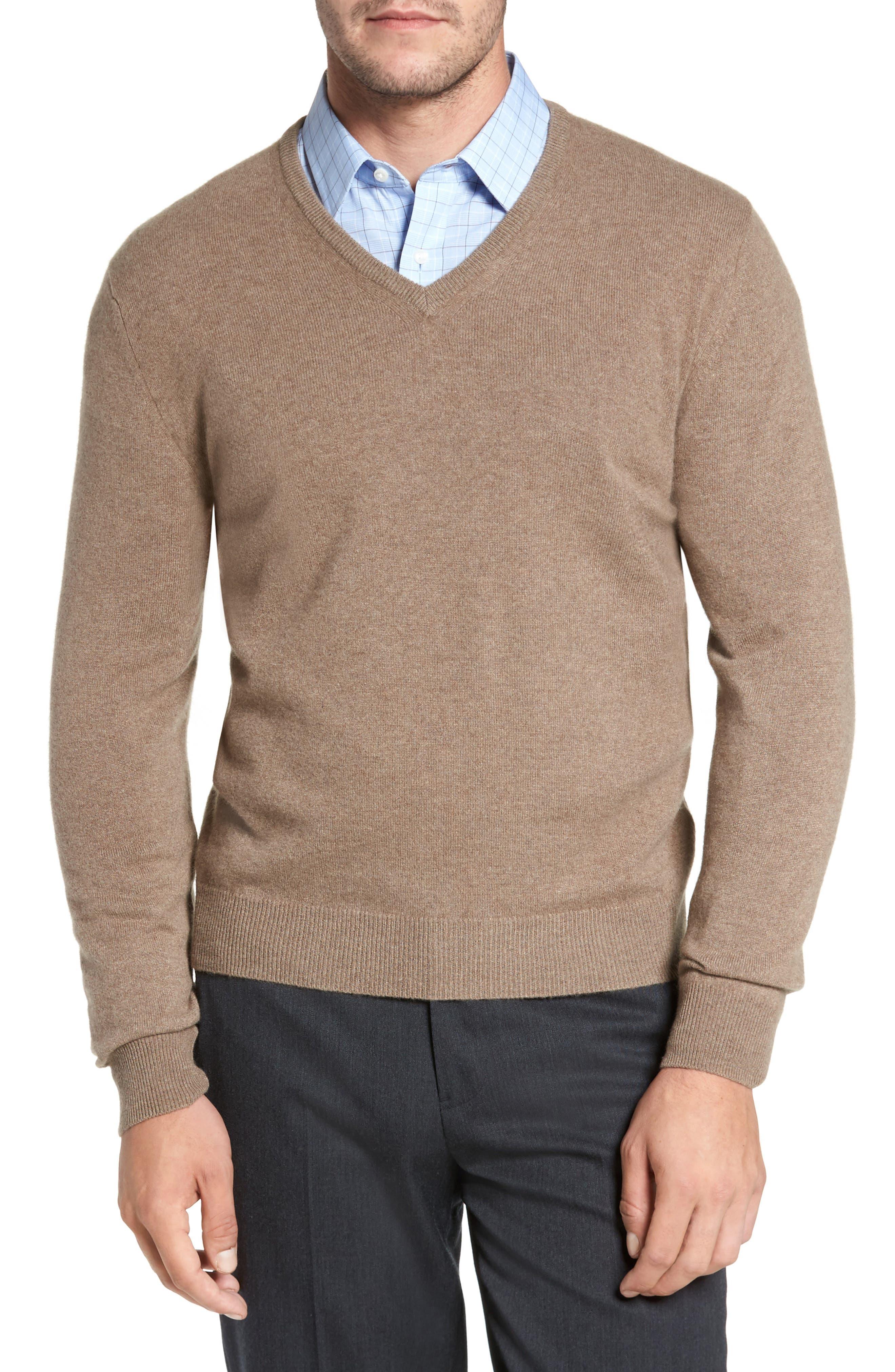 Cashmere V-Neck Sweater,                             Main thumbnail 3, color,
