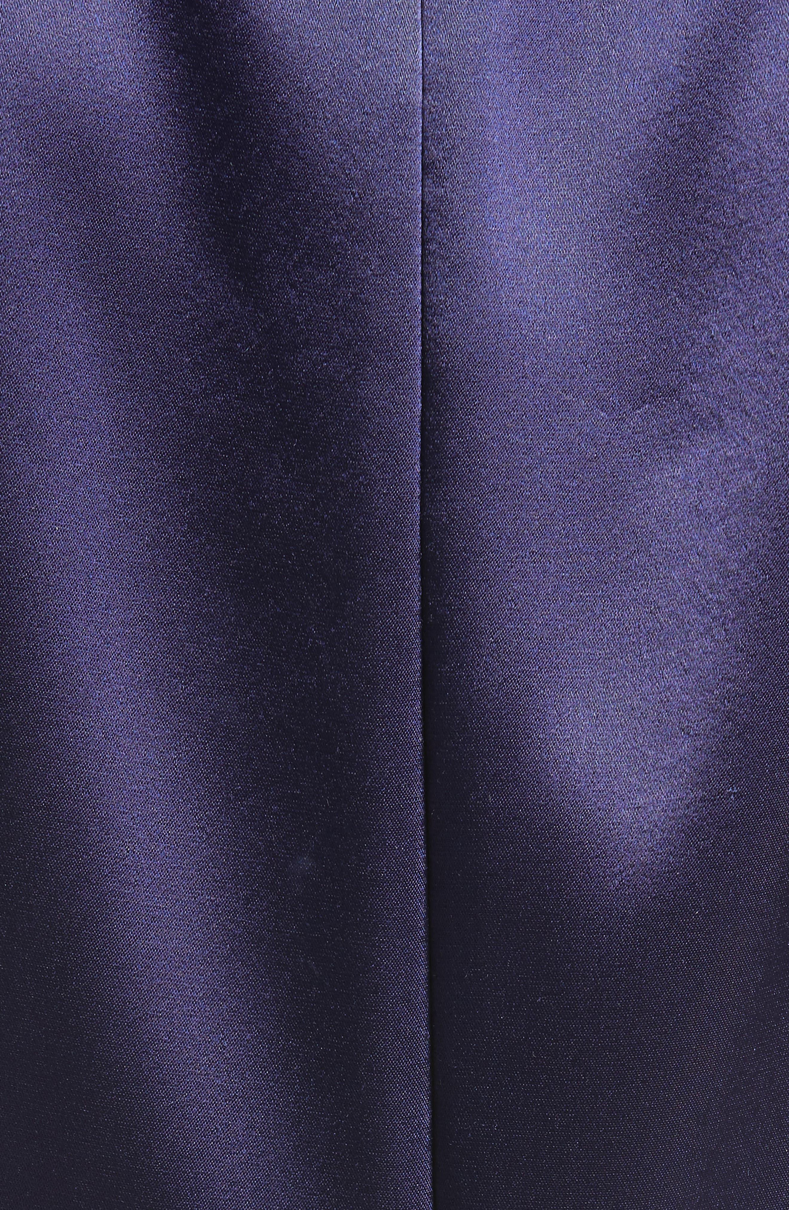 Liquid Satin Drape Front Column Gown,                             Alternate thumbnail 5, color,