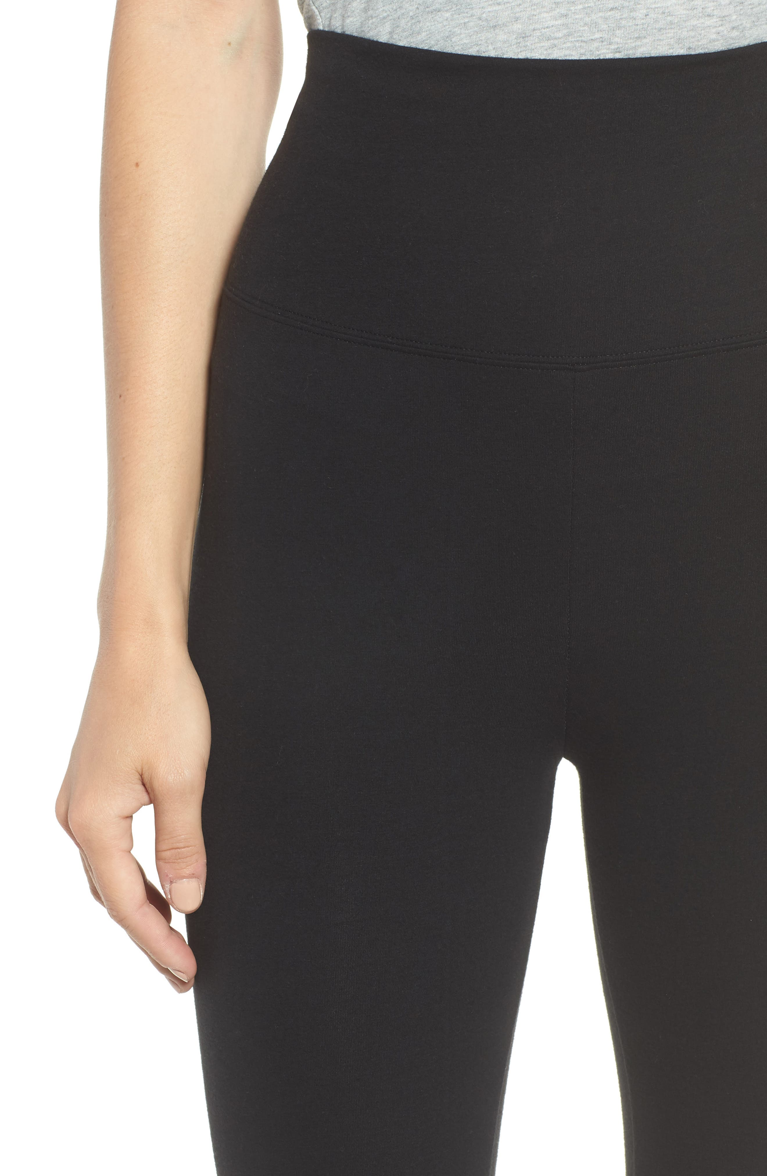 Go-To High Waist Leggings,                             Alternate thumbnail 4, color,                             BLACK