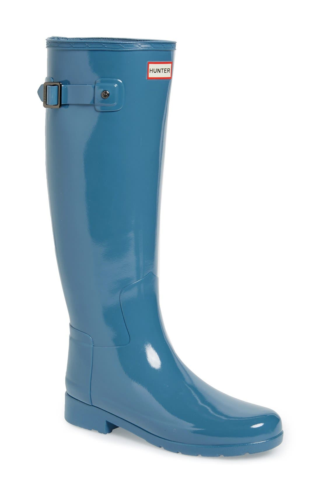 'Original Refined' High Gloss Rain Boot,                             Main thumbnail 8, color,
