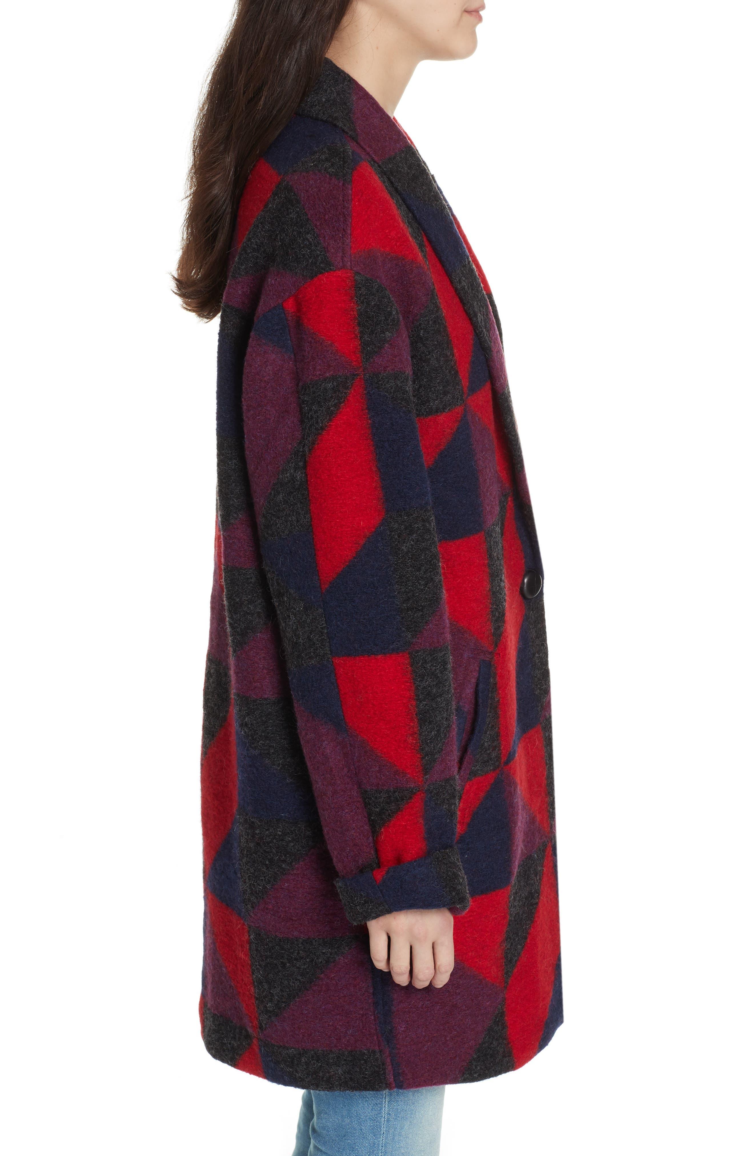 Halona Blanket Coat,                             Alternate thumbnail 3, color,                             002