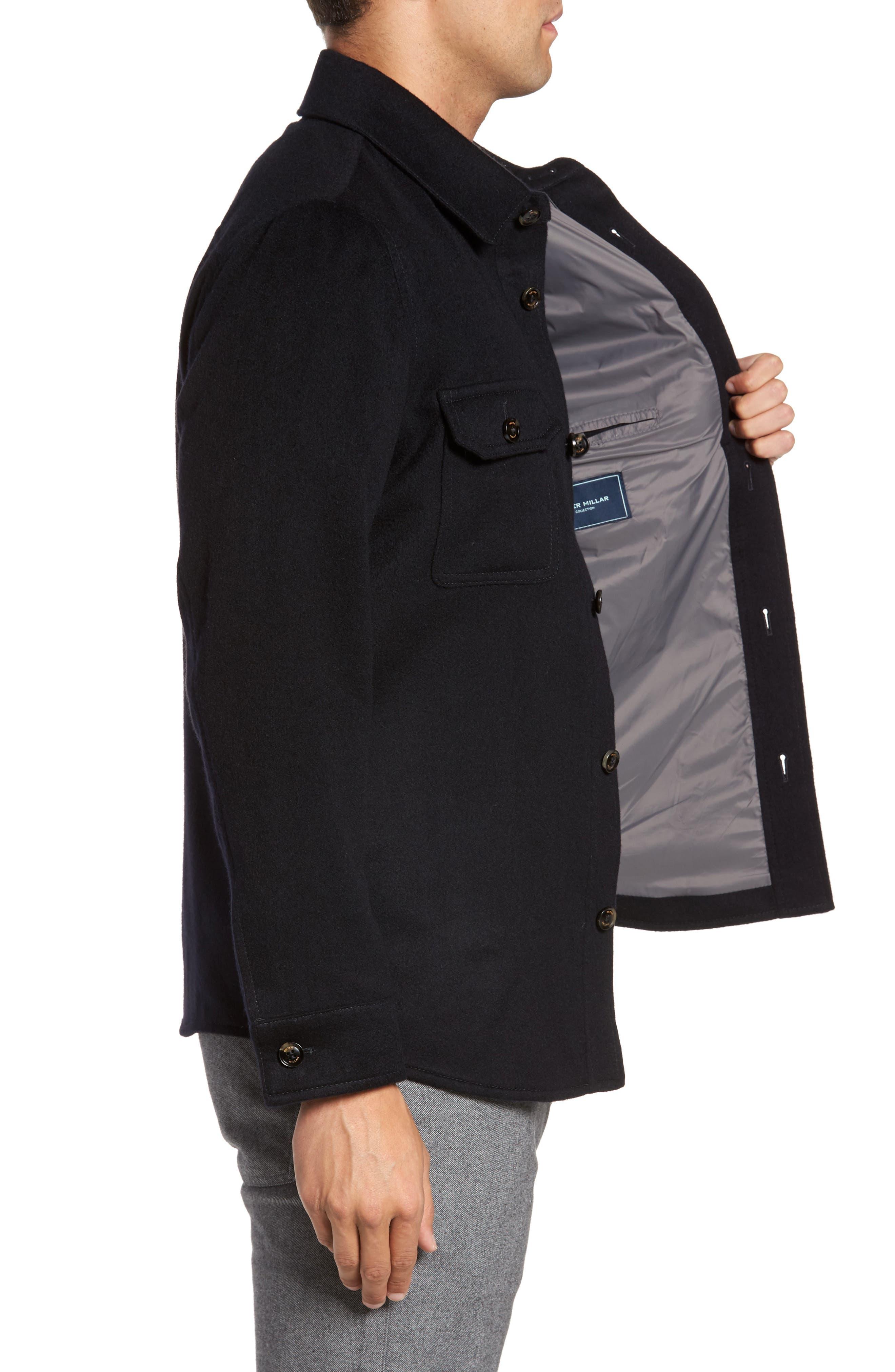 Featherweight Journeyman Cashmere Shirt Jacket,                             Alternate thumbnail 3, color,                             439