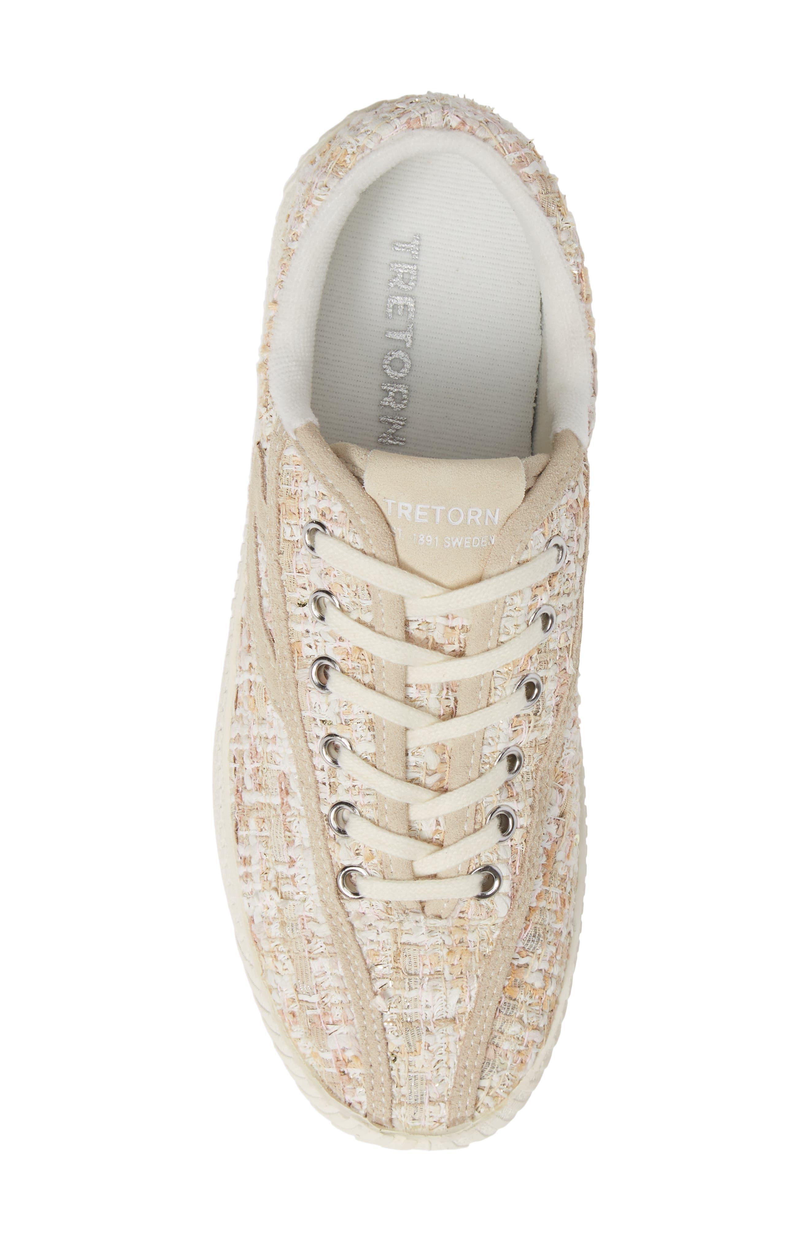 Bold Perforated Platform Sneaker,                             Alternate thumbnail 5, color,                             ROSADO/ CREAM
