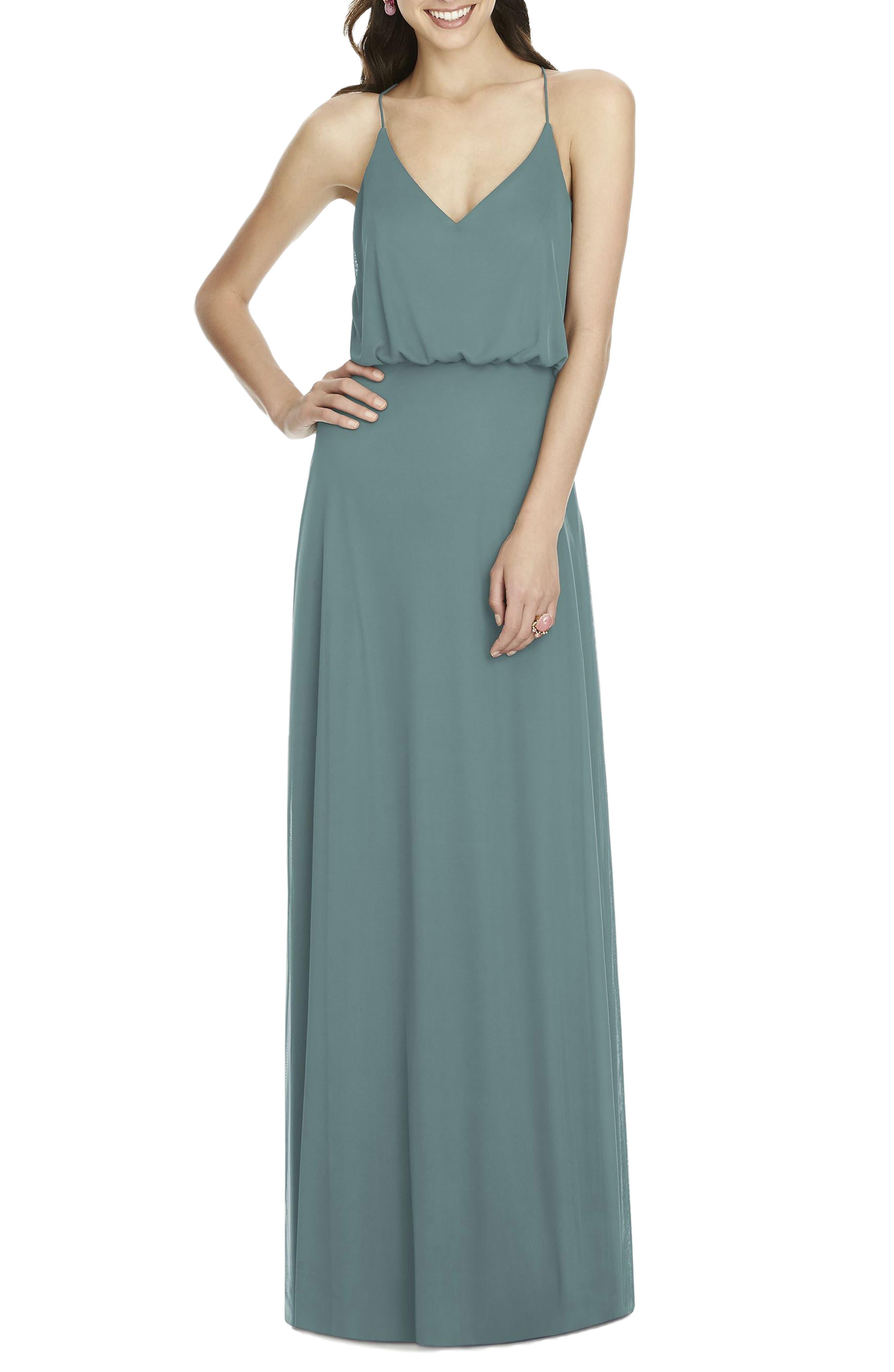 Chiffon Blouson Gown,                             Main thumbnail 3, color,