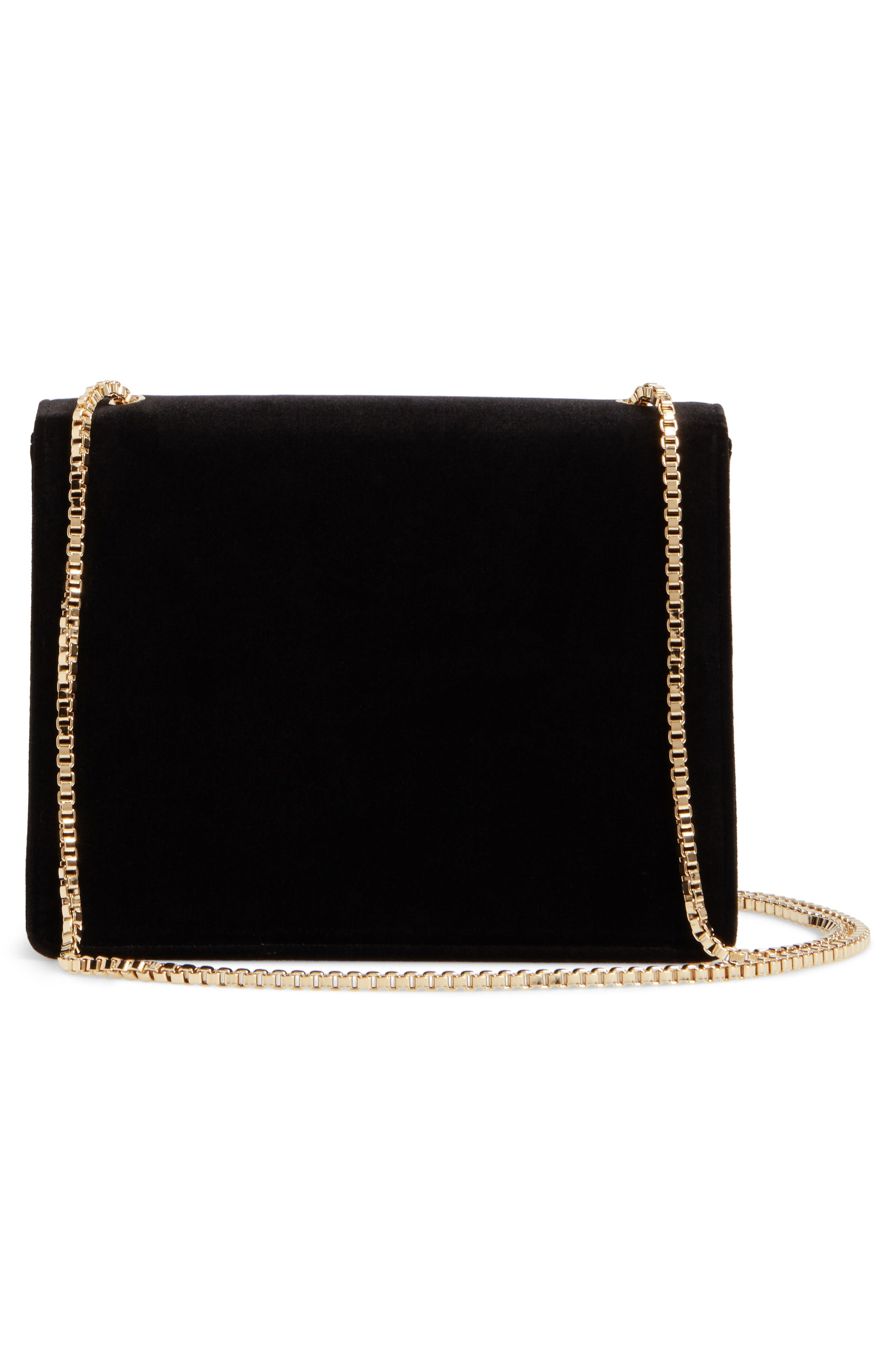 Small Velvet Crossbody Bag,                             Alternate thumbnail 3, color,                             001