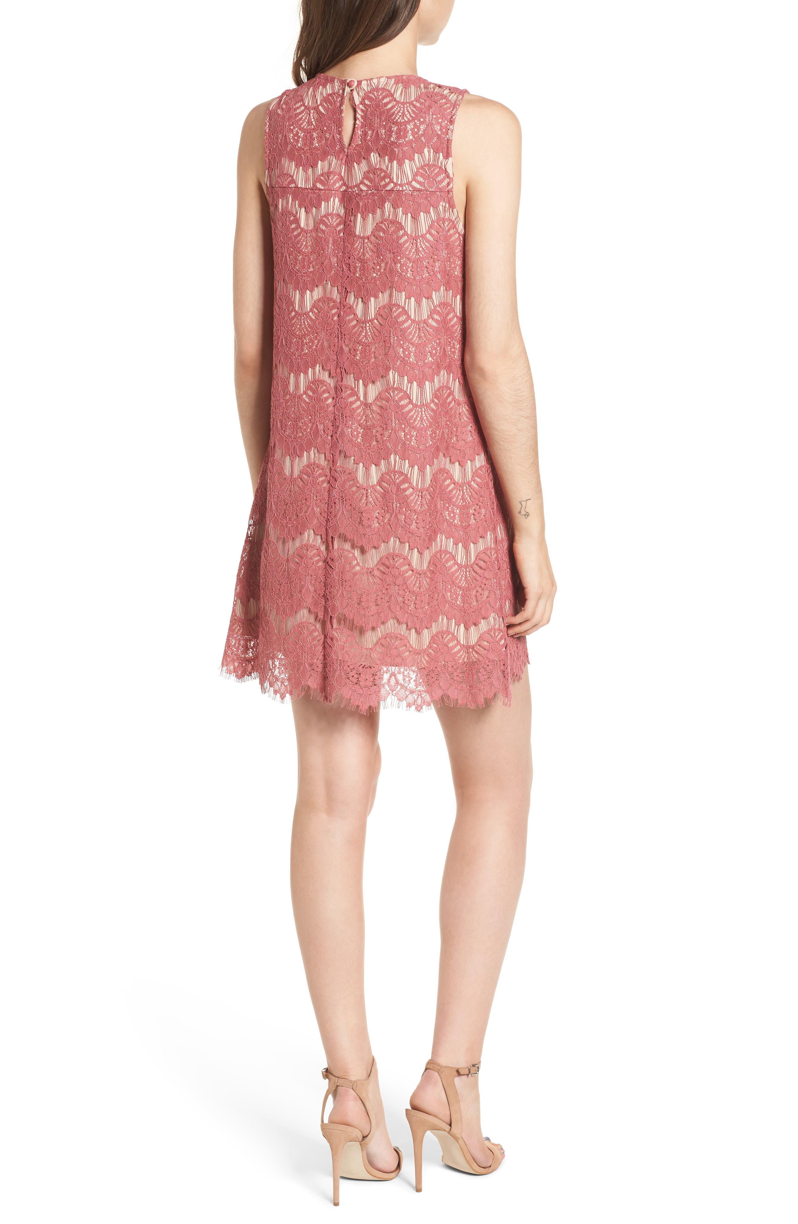 Lace Shift Dress,                             Alternate thumbnail 2, color,                             650