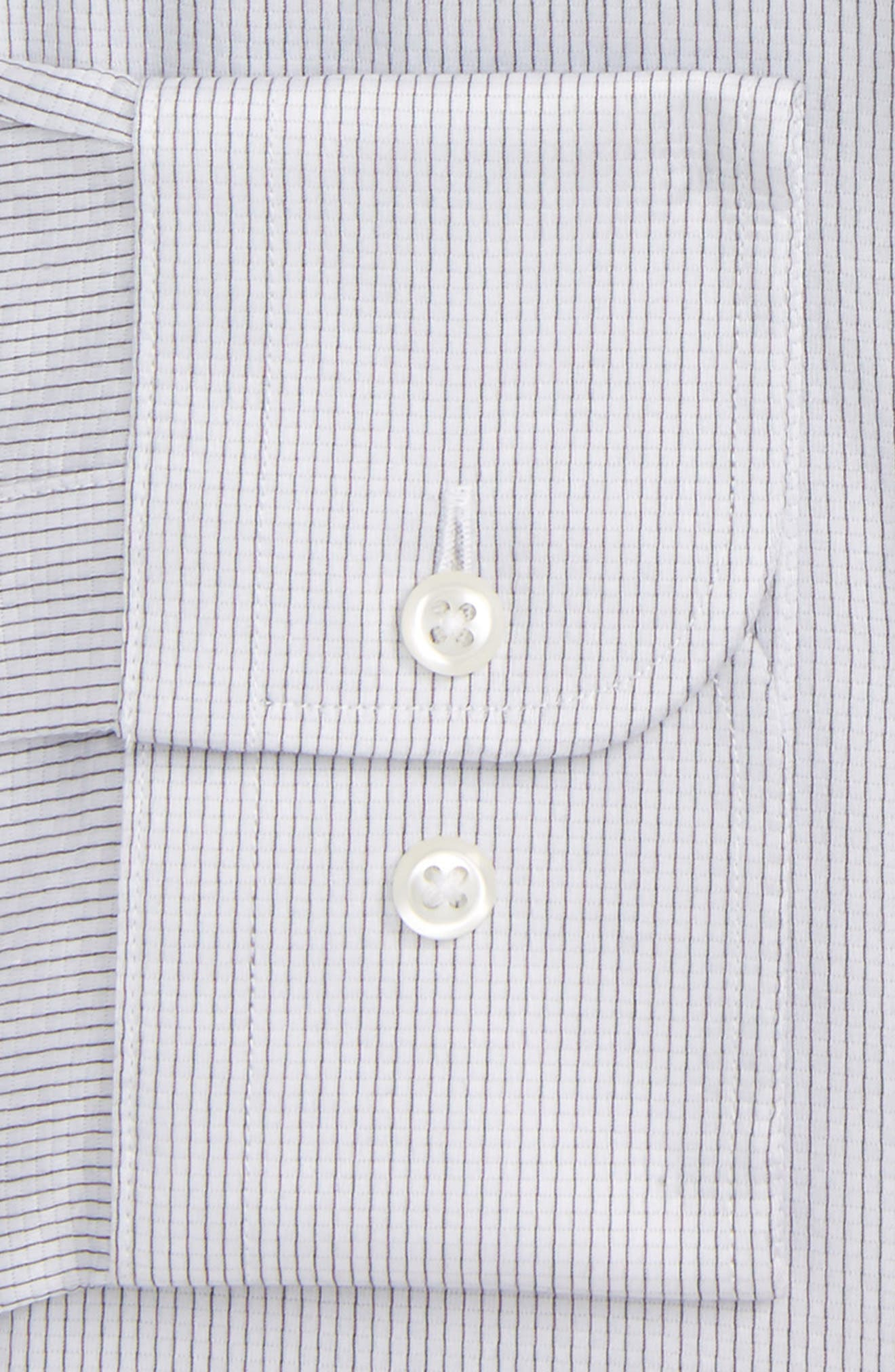 Traditional Fit Stripe Dress Shirt,                             Alternate thumbnail 6, color,                             050