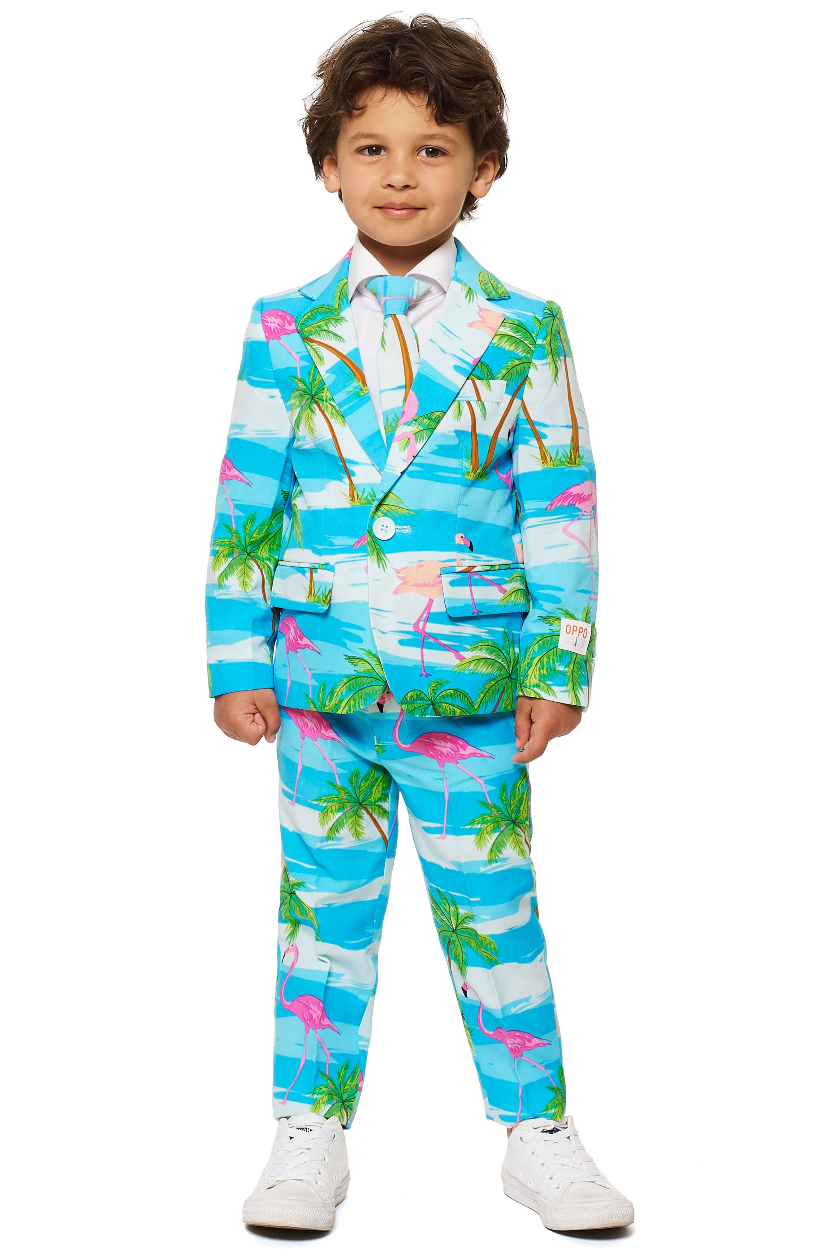 Toddler Boys Opposuits Flaminguy TwoPiece Suit With Tie