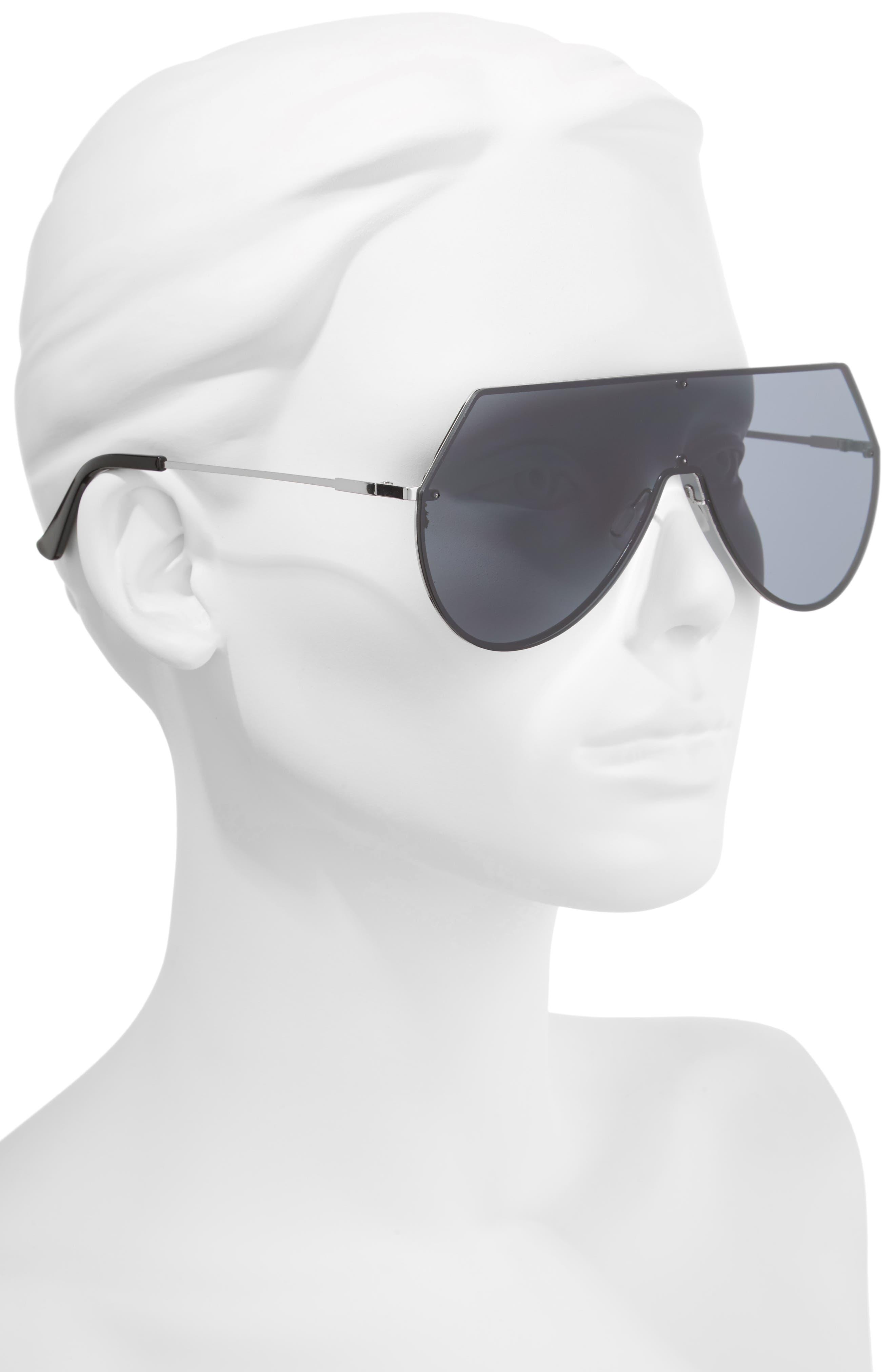 55mm Shield Sunglasses,                             Alternate thumbnail 2, color,                             001