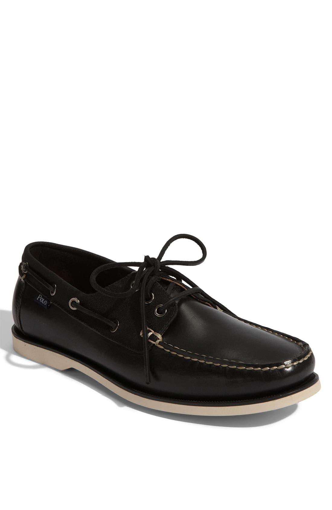POLO RALPH LAUREN 'Bienne' Boat Shoe, Main, color, 001