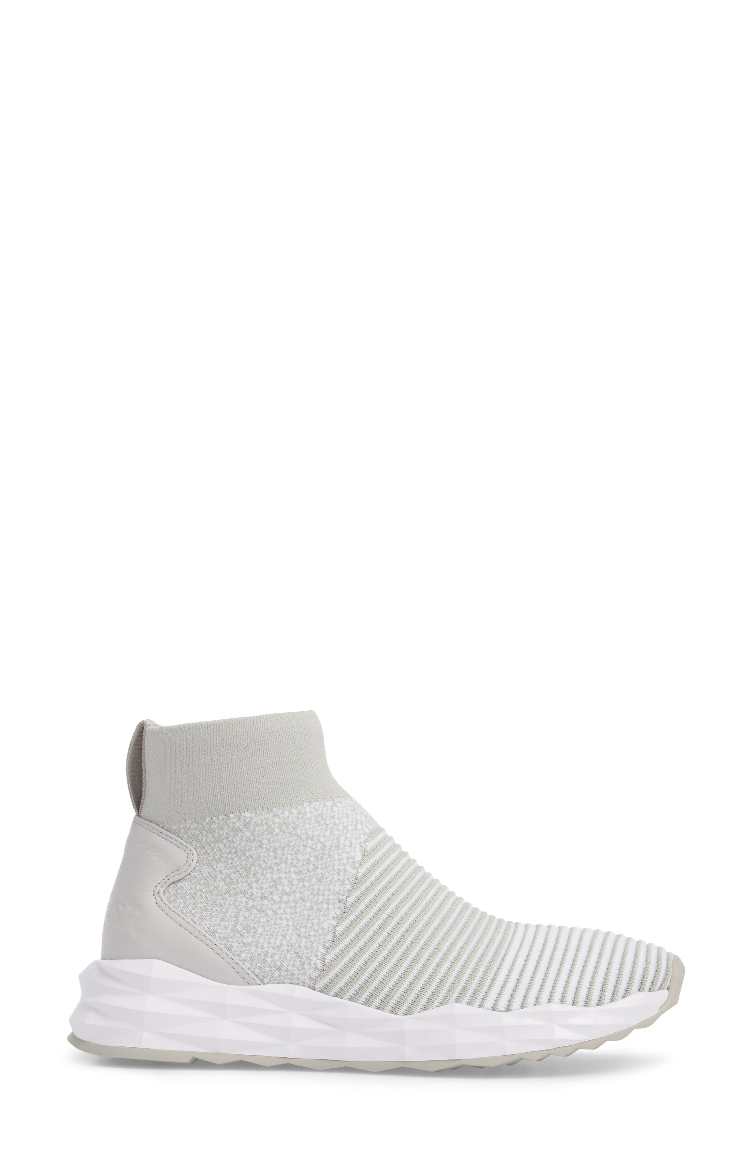Spot High Top Sock Sneaker,                             Alternate thumbnail 3, color,                             040