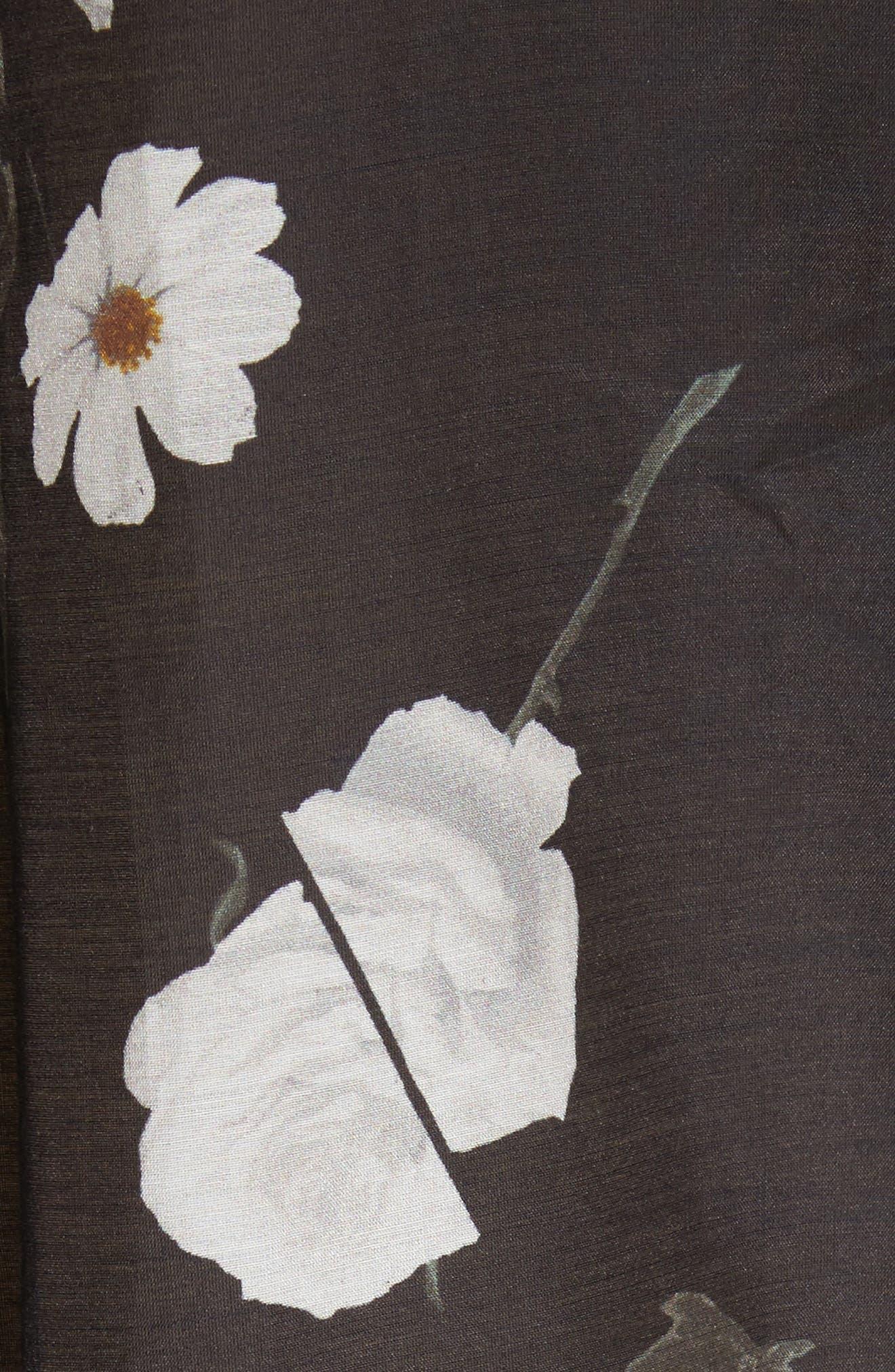 Daddy Floral Cotton & Silk Shirt,                             Alternate thumbnail 5, color,                             006
