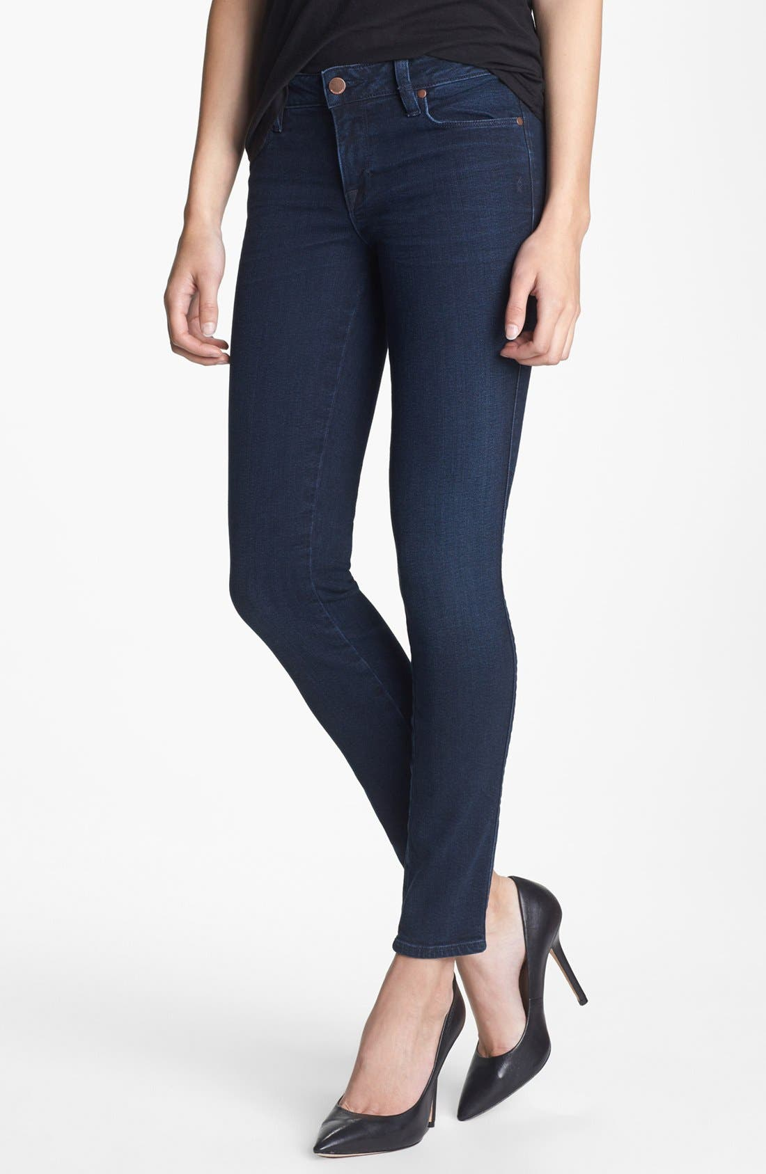 'The Shya' Cigarette Skinny Jeans,                             Main thumbnail 1, color,                             401