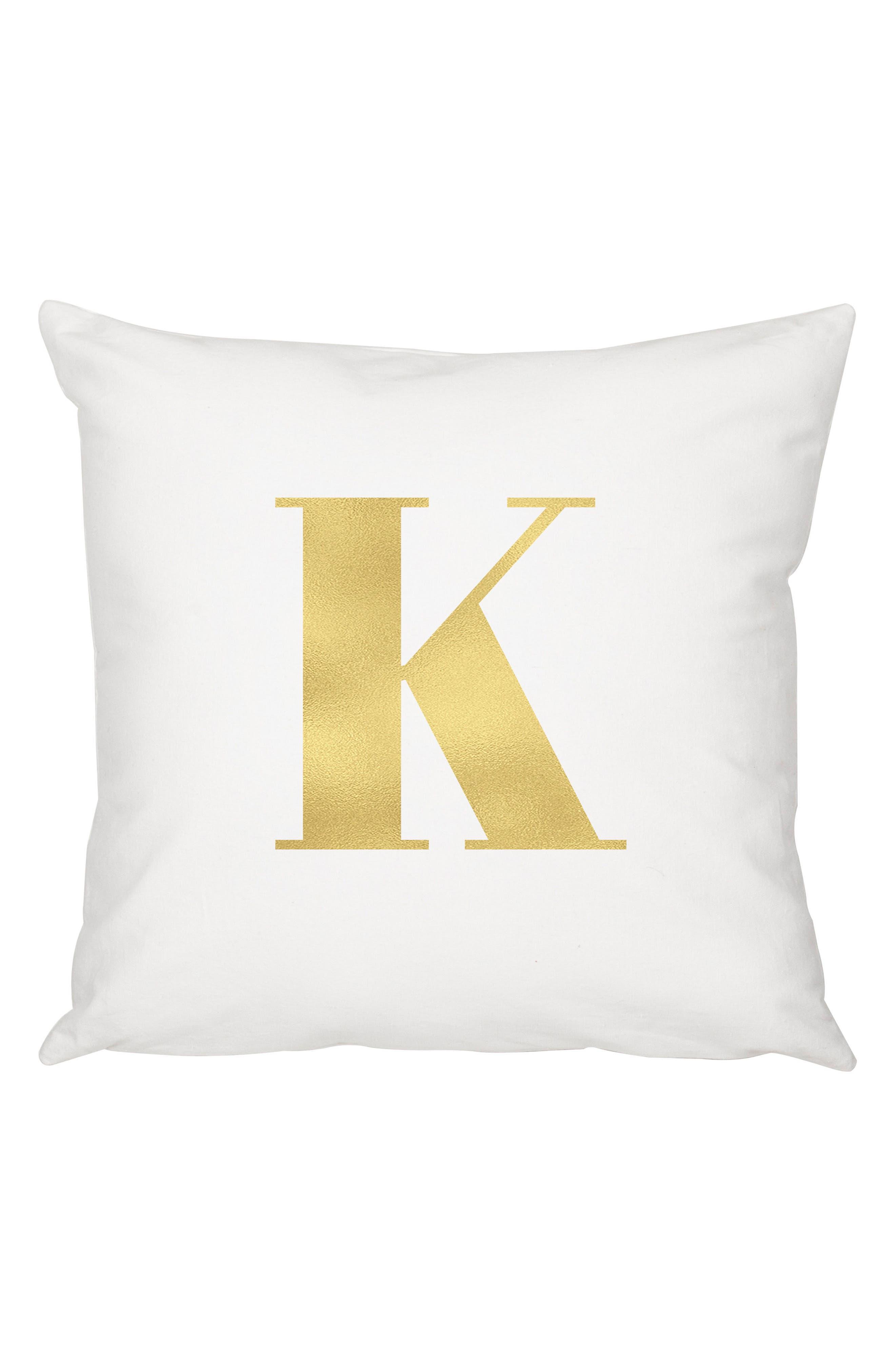 Monogram Accent Pillow,                         Main,                         color, 700
