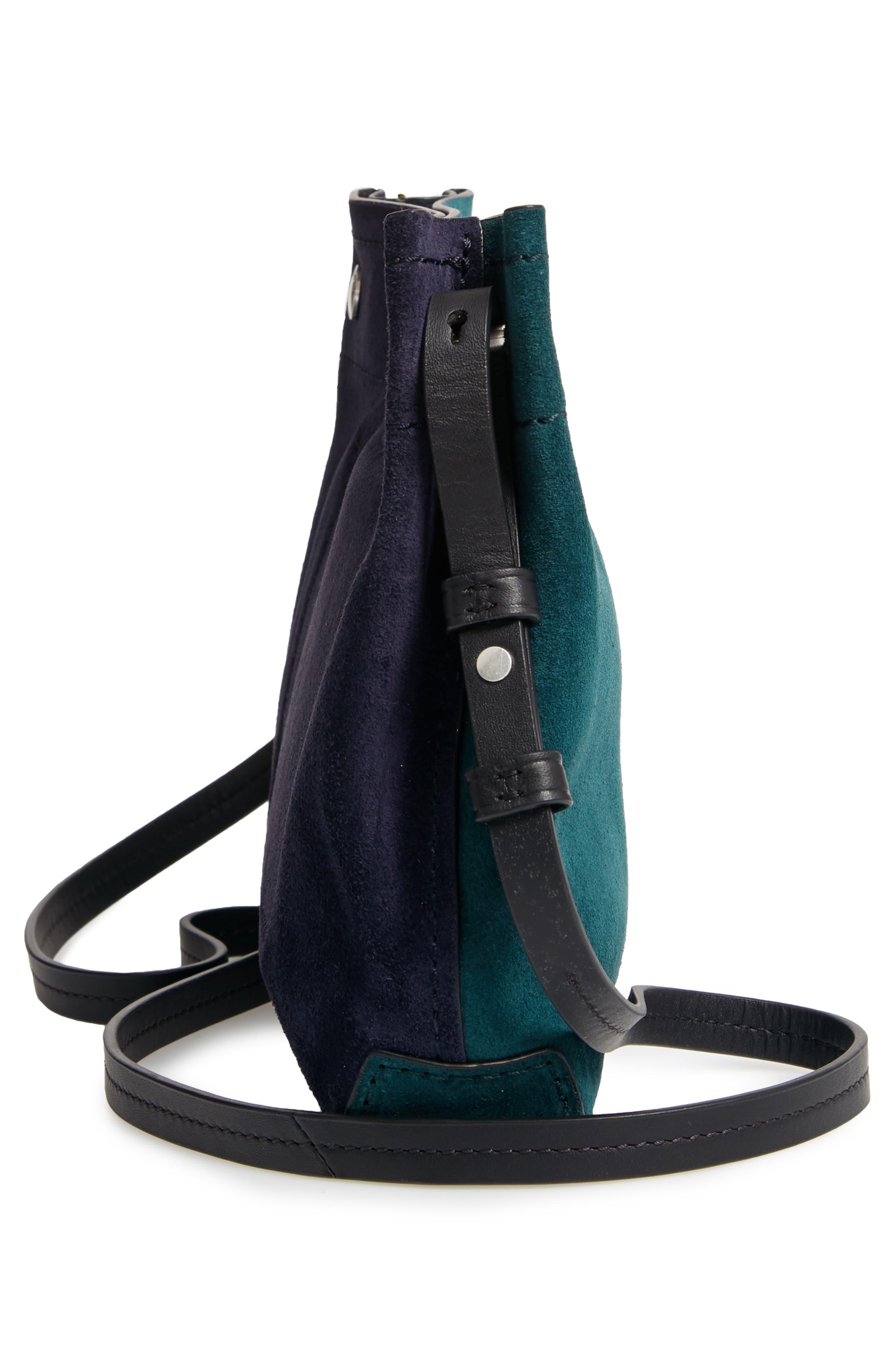 RAG & BONE,                             Compass Colorblock Leather Crossbody Bag,                             Alternate thumbnail 5, color,                             FOREST MULTI