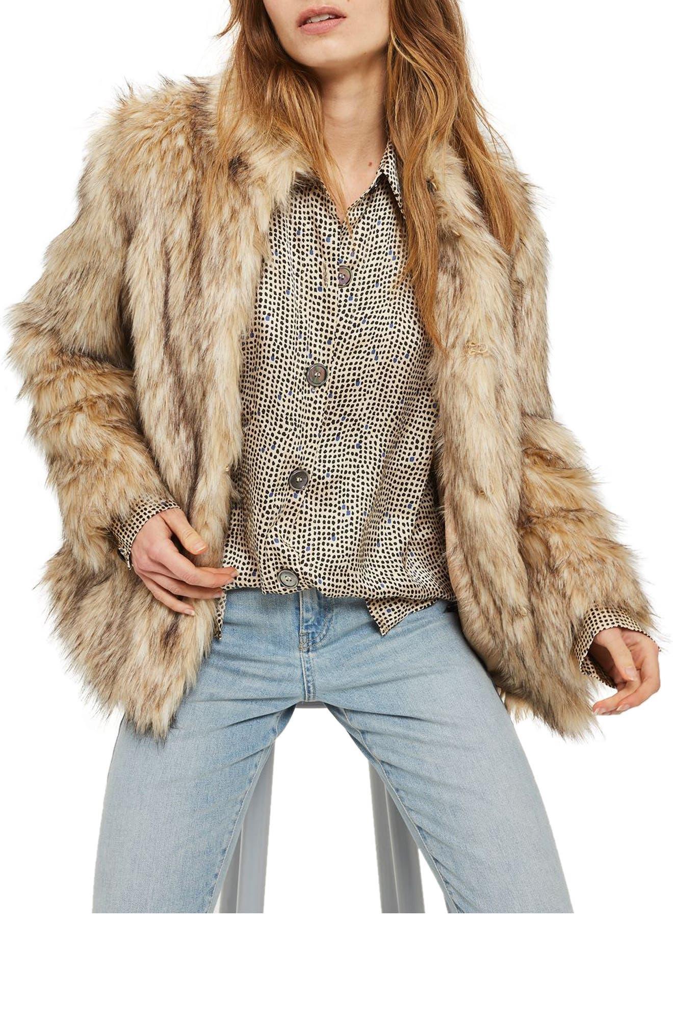 Kendall Faux Fur Jacket, Main, color, 270