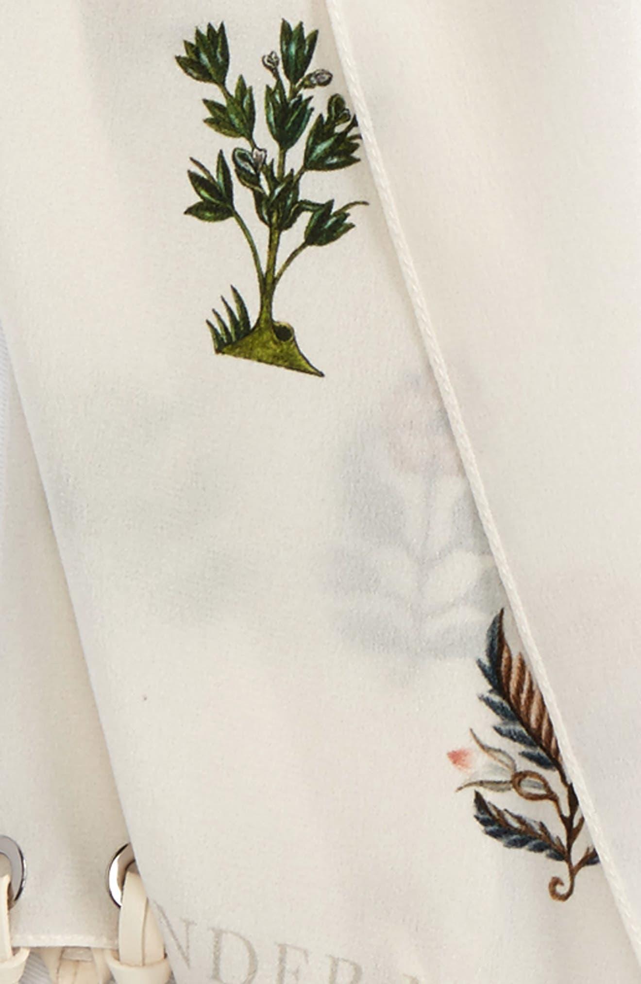 Medieval Flower Skinny Silk Scarf,                             Alternate thumbnail 6, color,