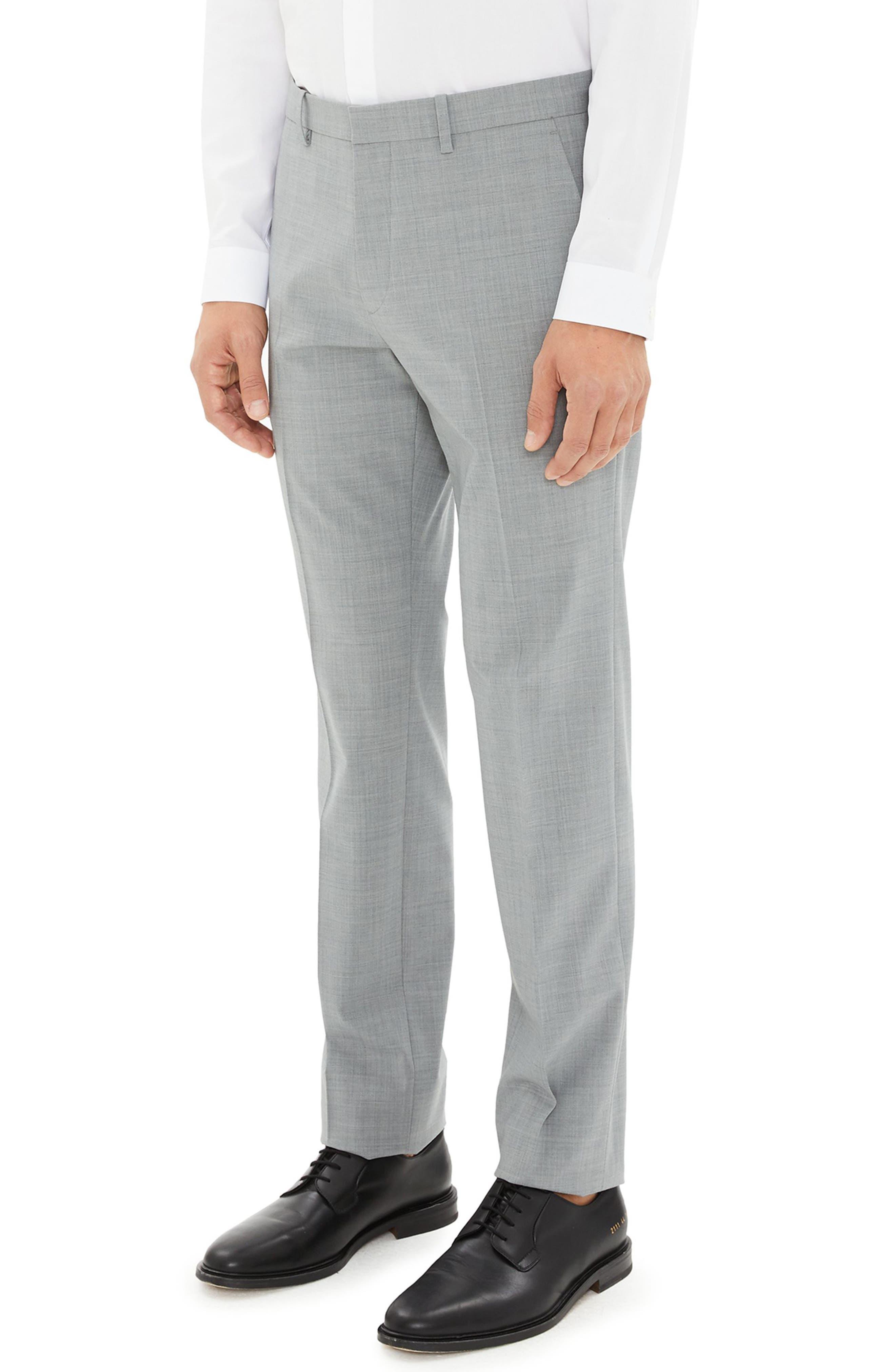 Mayer New Tailor 2 Wool Trousers,                             Alternate thumbnail 3, color,                             CHROME MELANGE