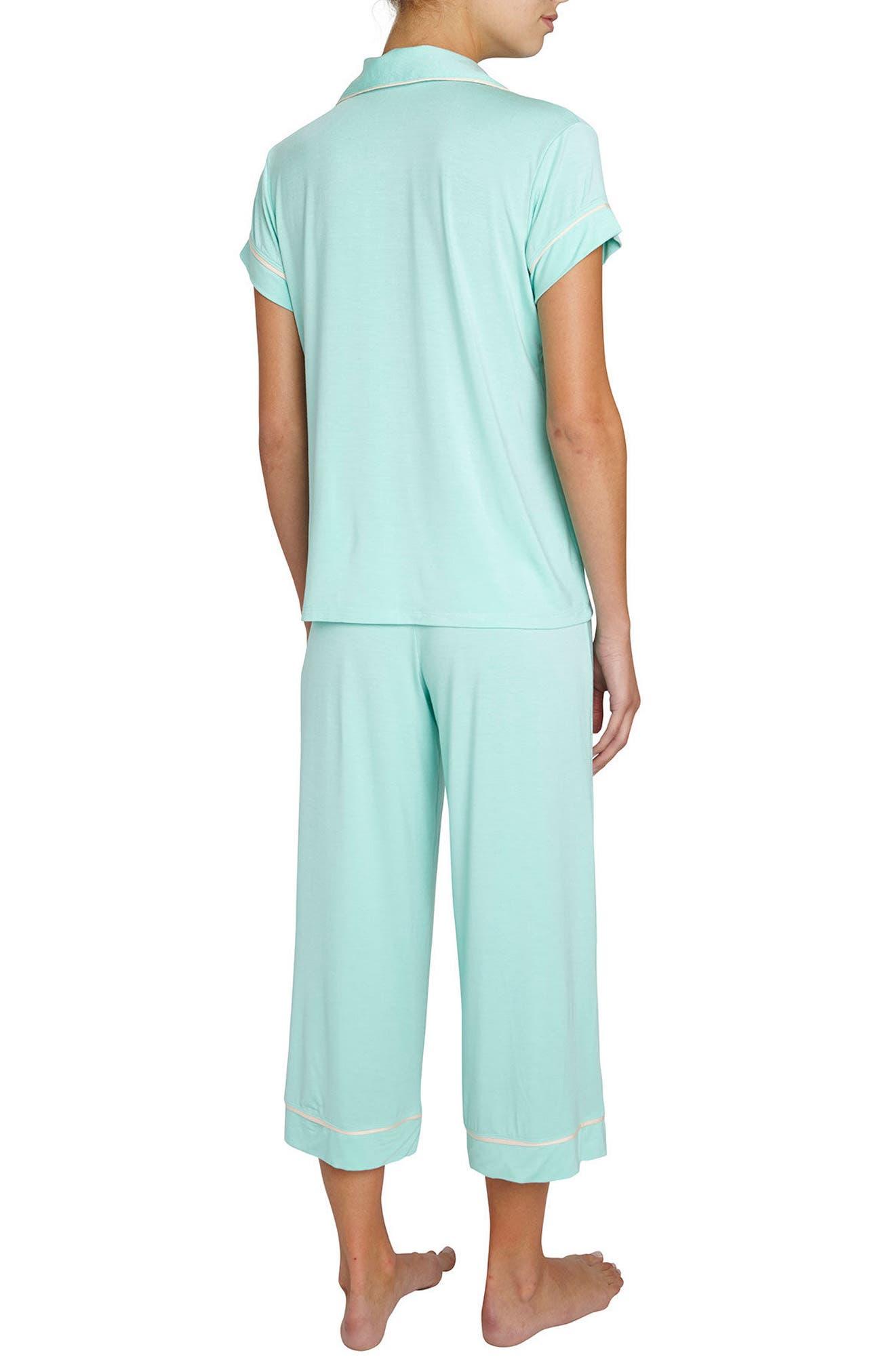 Gisele Crop Pajamas,                             Alternate thumbnail 9, color,