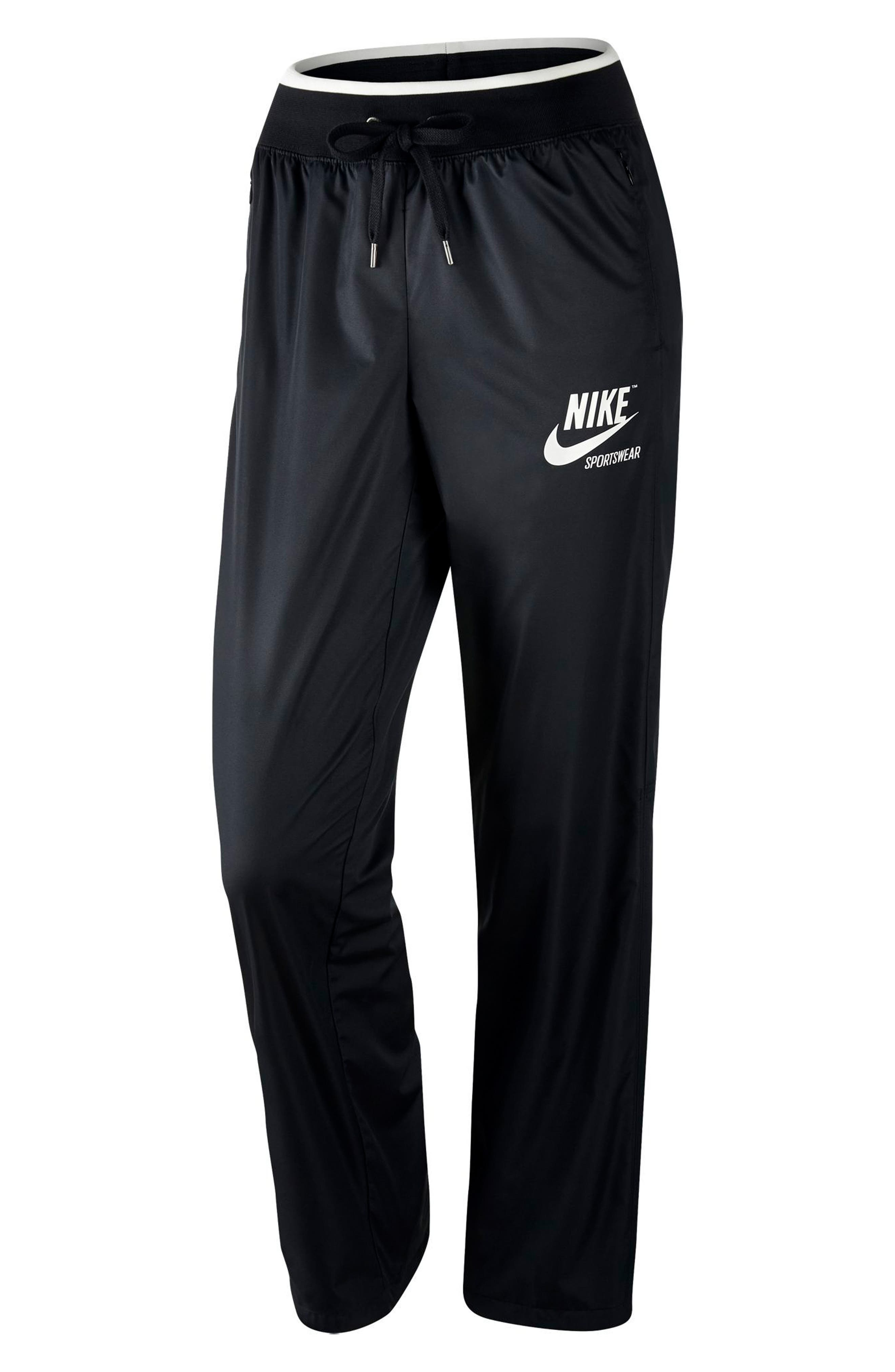 Sportswear Women's Stretch Faille Pants,                             Alternate thumbnail 5, color,                             BLACK