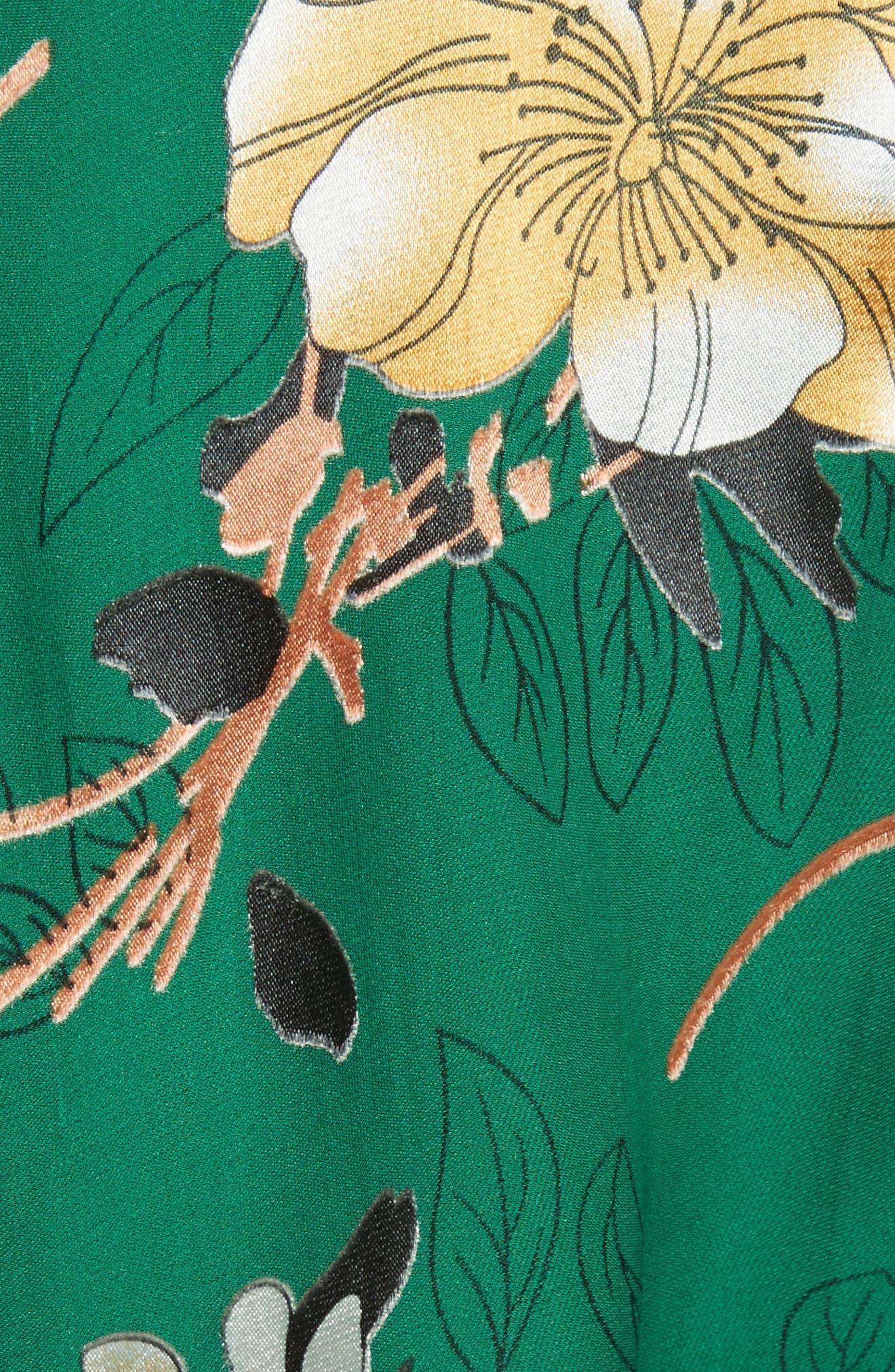 Coco Floral Print A-Line Dress,                             Alternate thumbnail 5, color,                             308
