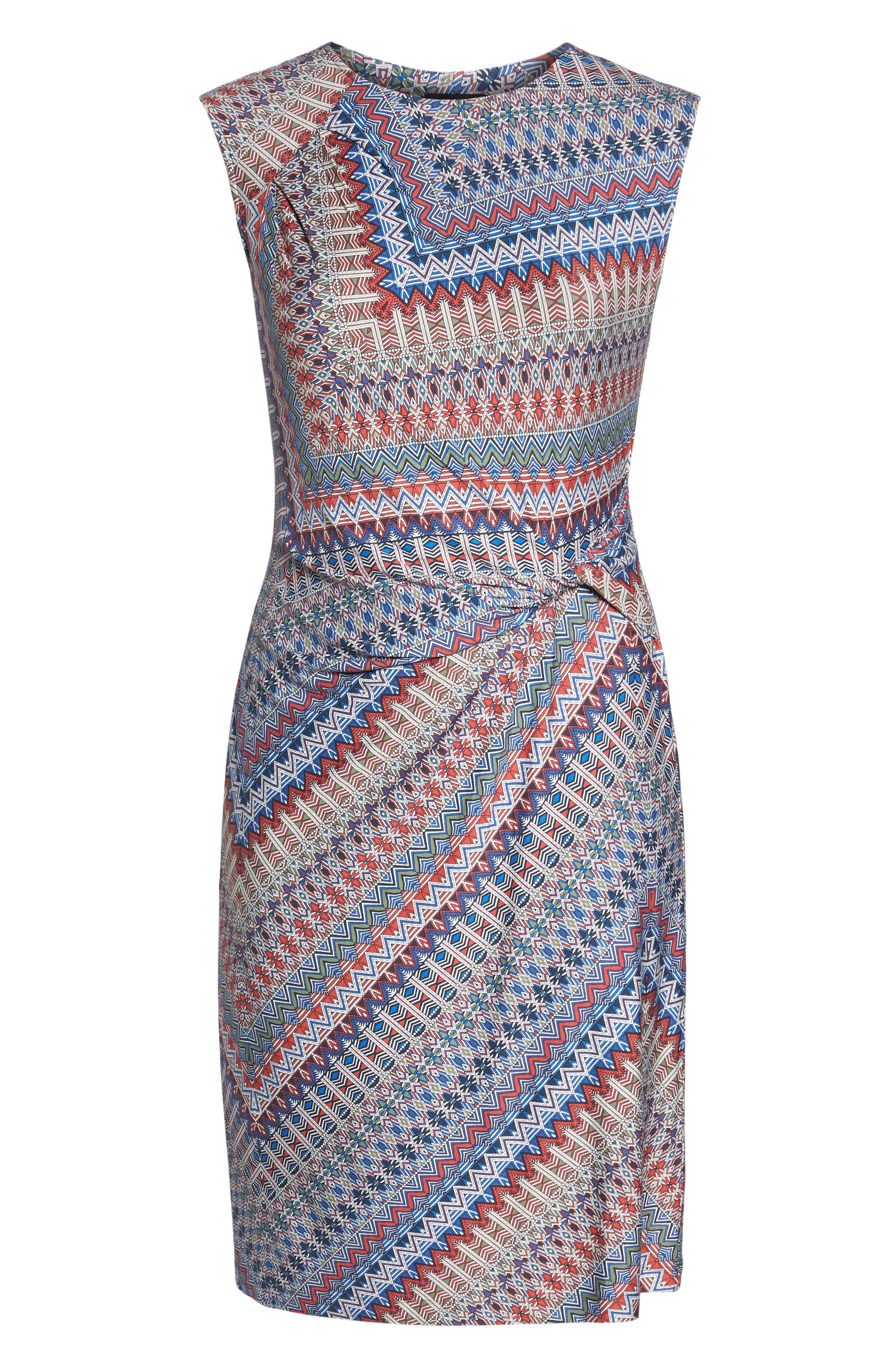 Zigzag Twist Dress,                             Alternate thumbnail 6, color,                             609