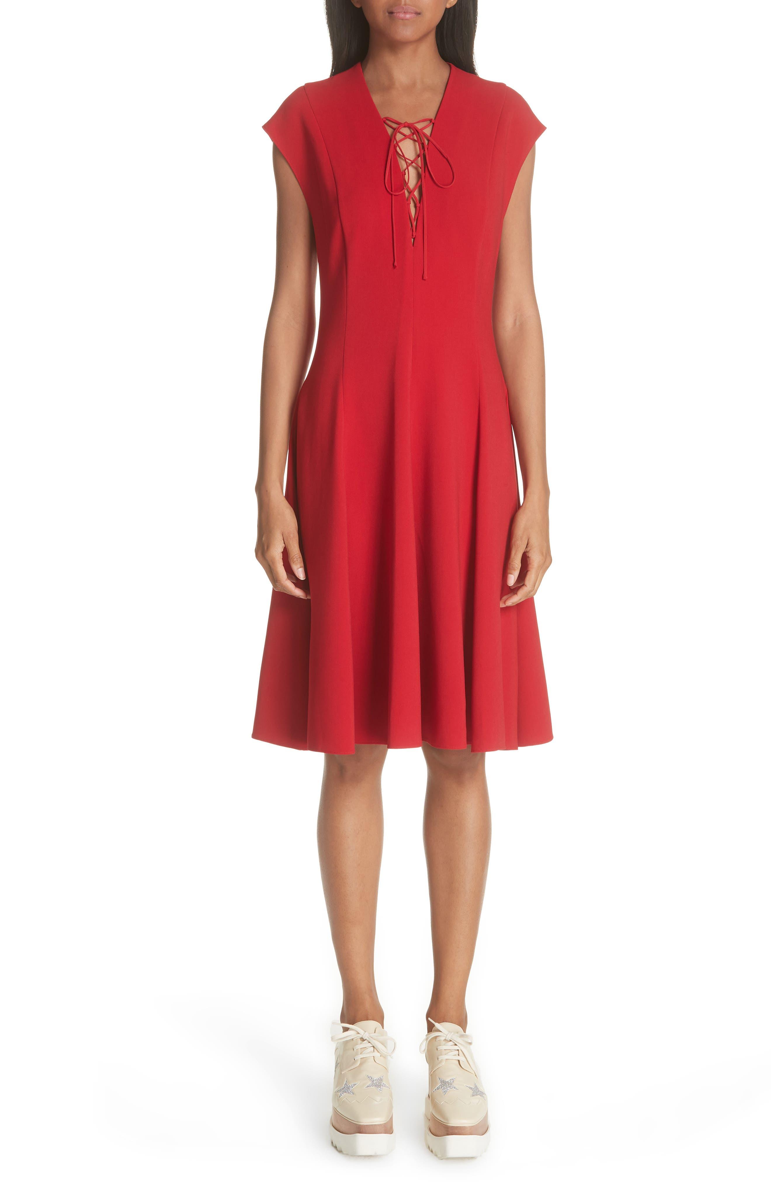 Lace-Up Dress, Main, color, 627