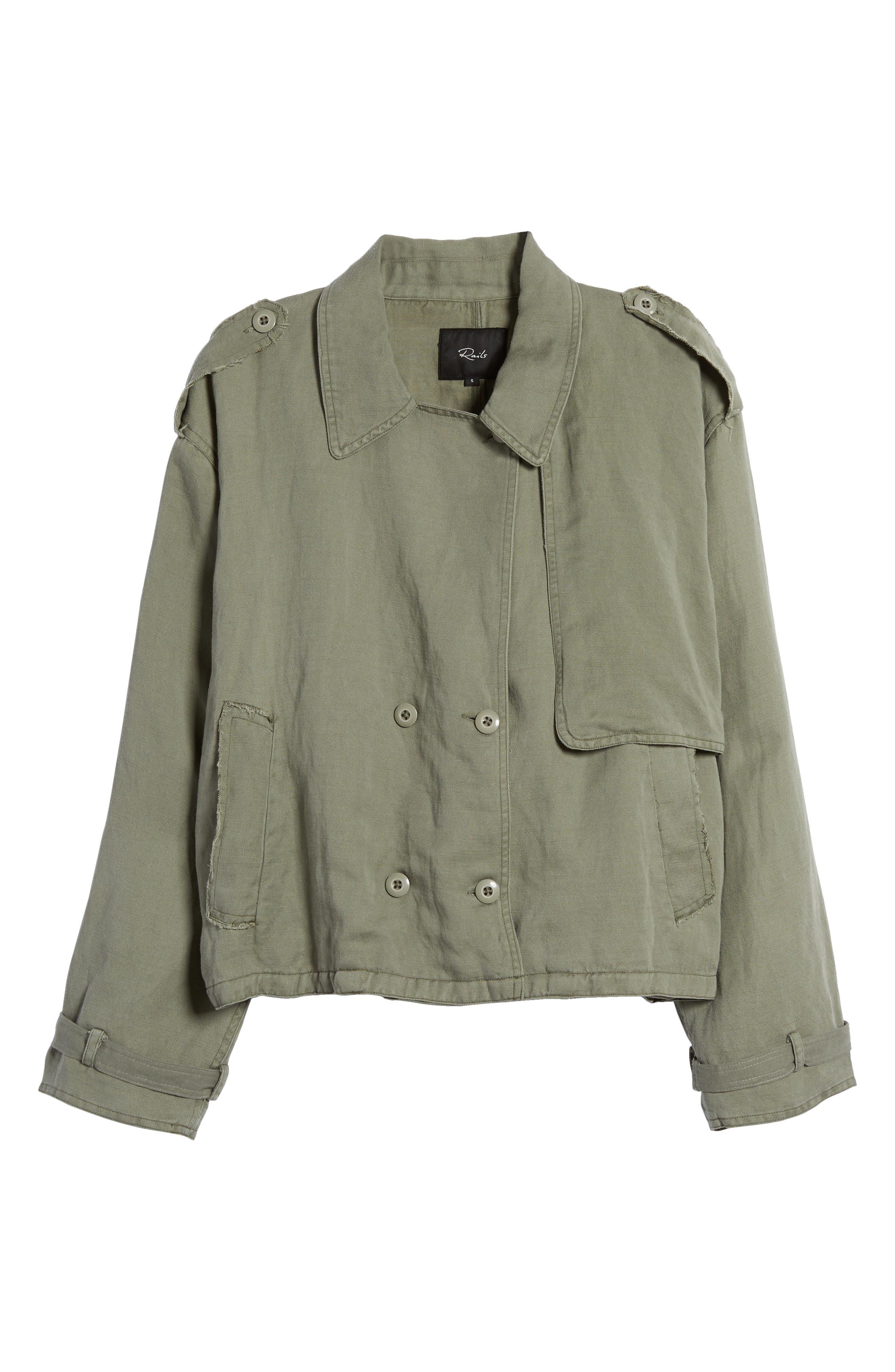 Barclay Crop Jacket,                             Alternate thumbnail 6, color,                             307