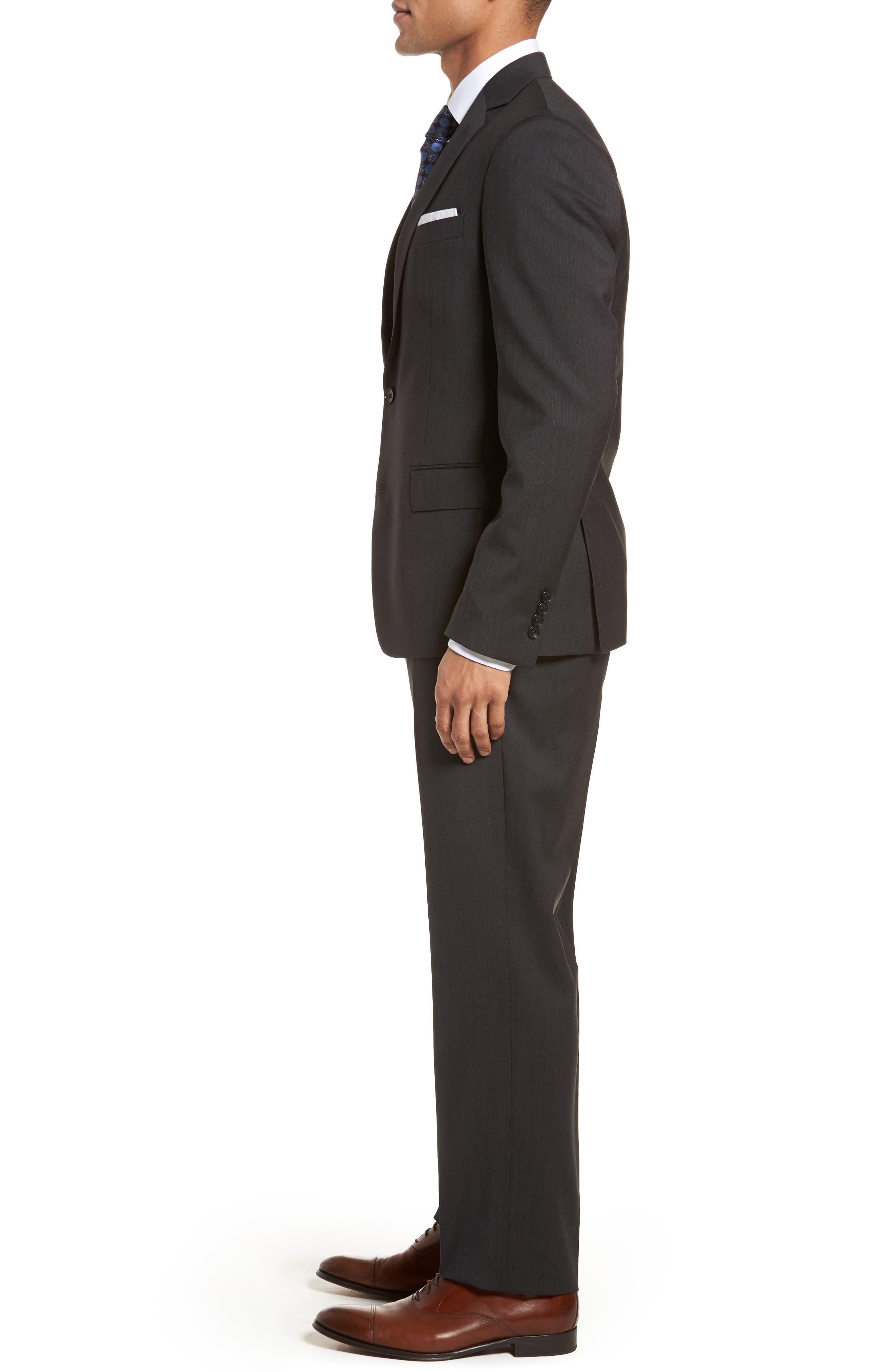Classic Fit Check Suit,                             Alternate thumbnail 3, color,                             020