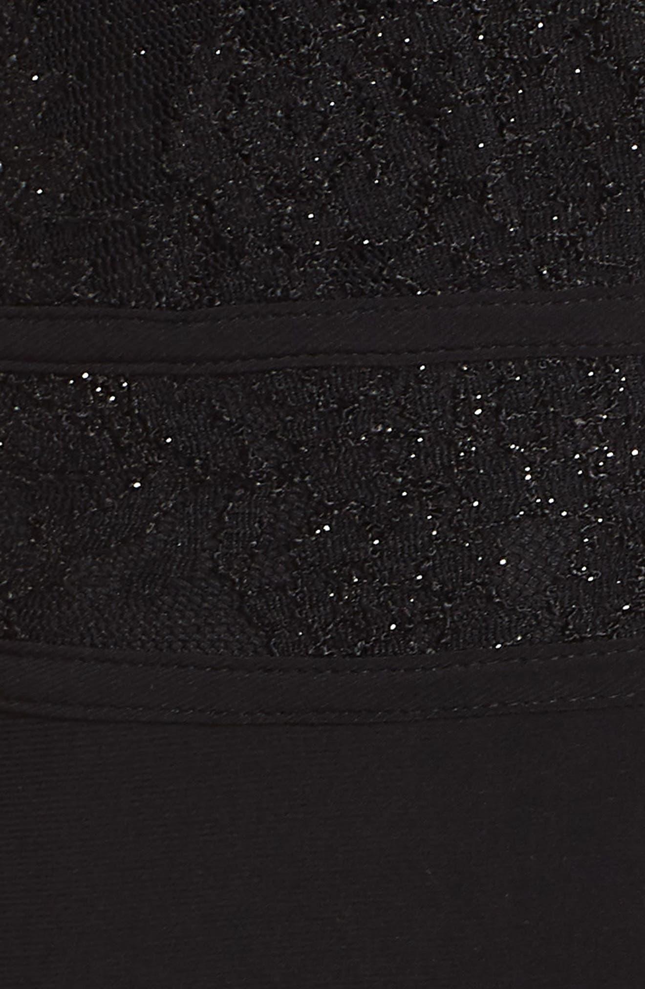 MORGAN & CO.,                             Pleat Lace Bodice Evening Dress,                             Alternate thumbnail 6, color,                             BLACK