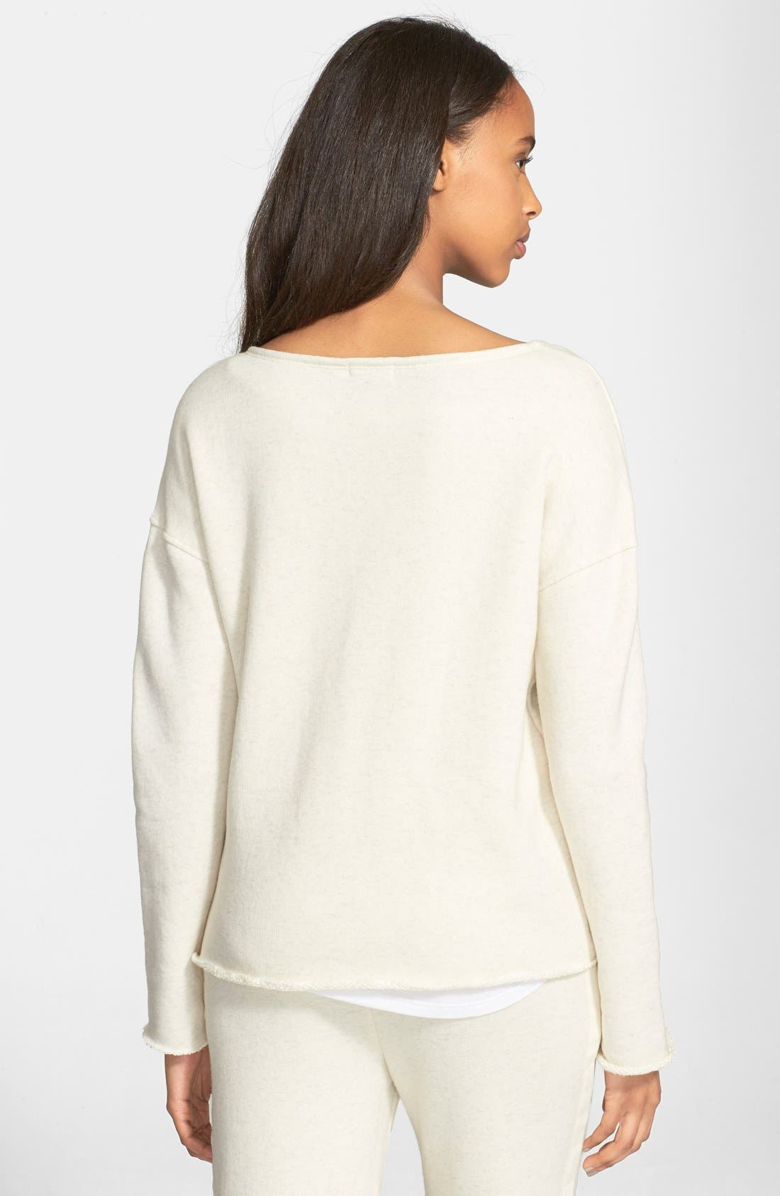 Brushed French Terry Sweatshirt,                             Alternate thumbnail 4, color,                             240