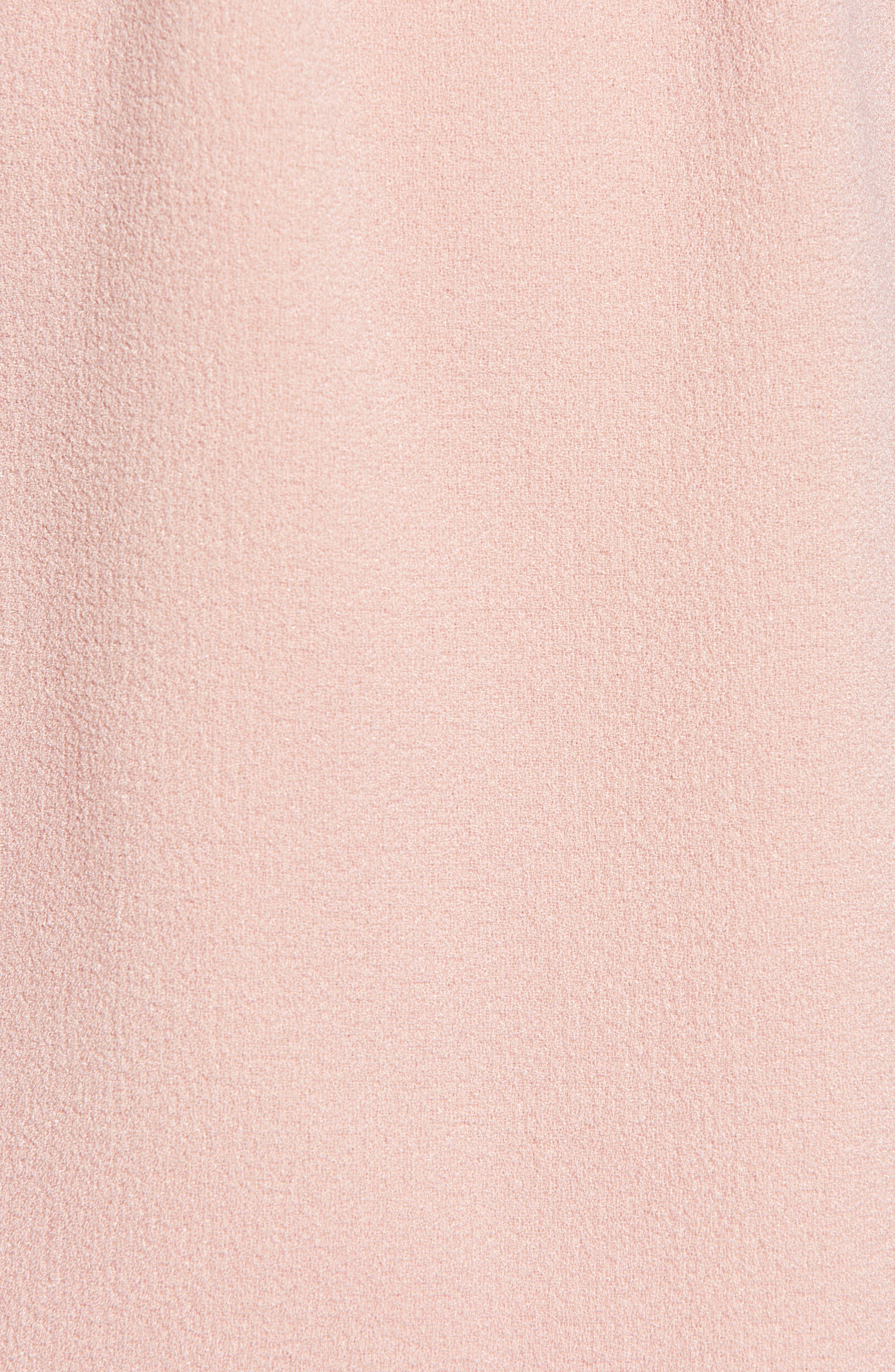 SPEECHLESS,                             Crepe Flutter Sleeve Fit & Flare Dress,                             Alternate thumbnail 6, color,                             ANTIQUE ROSE