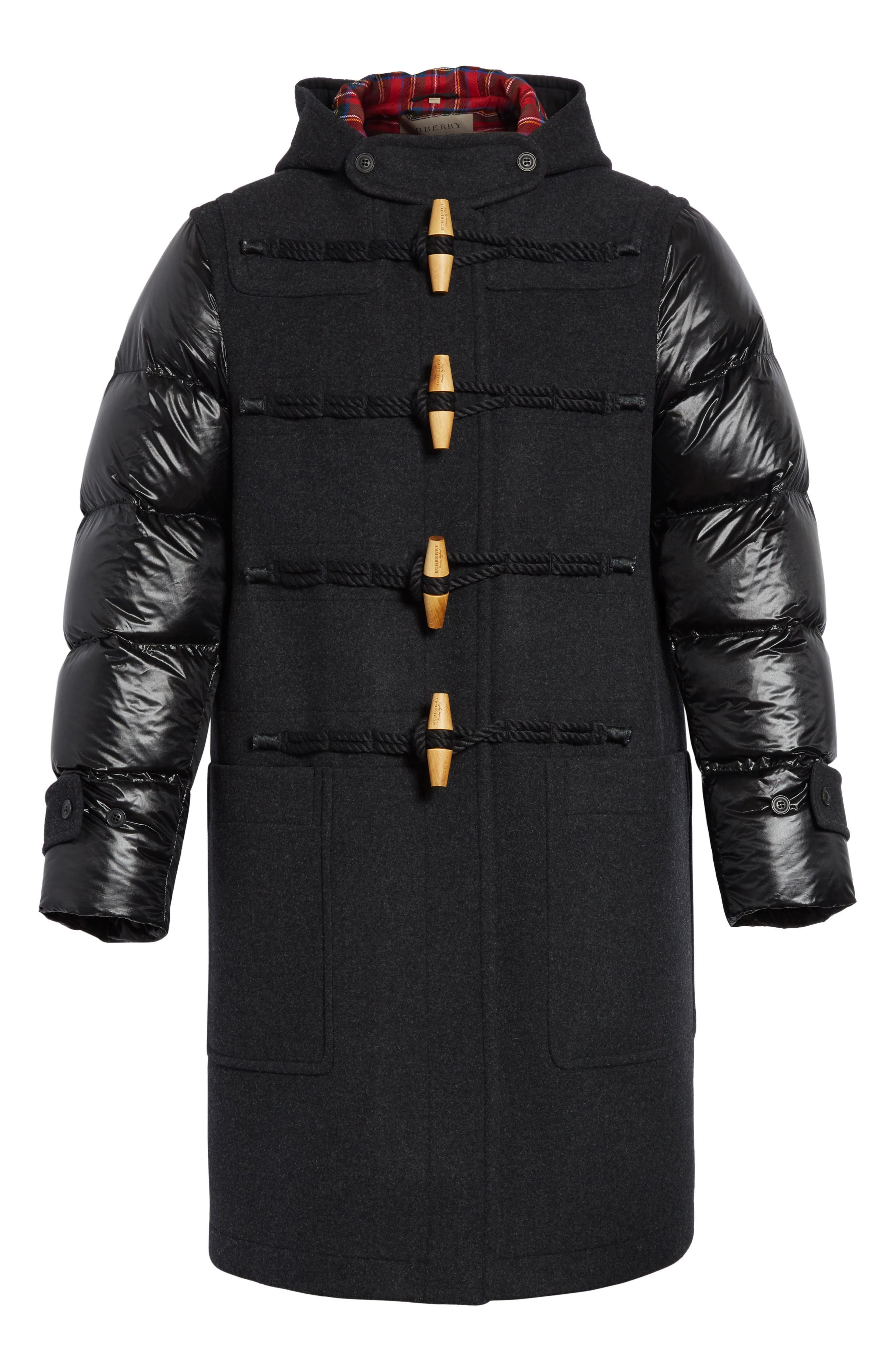 Cotterill Down Sleeve Wool Blend Duffle Coat,                             Alternate thumbnail 5, color,                             026