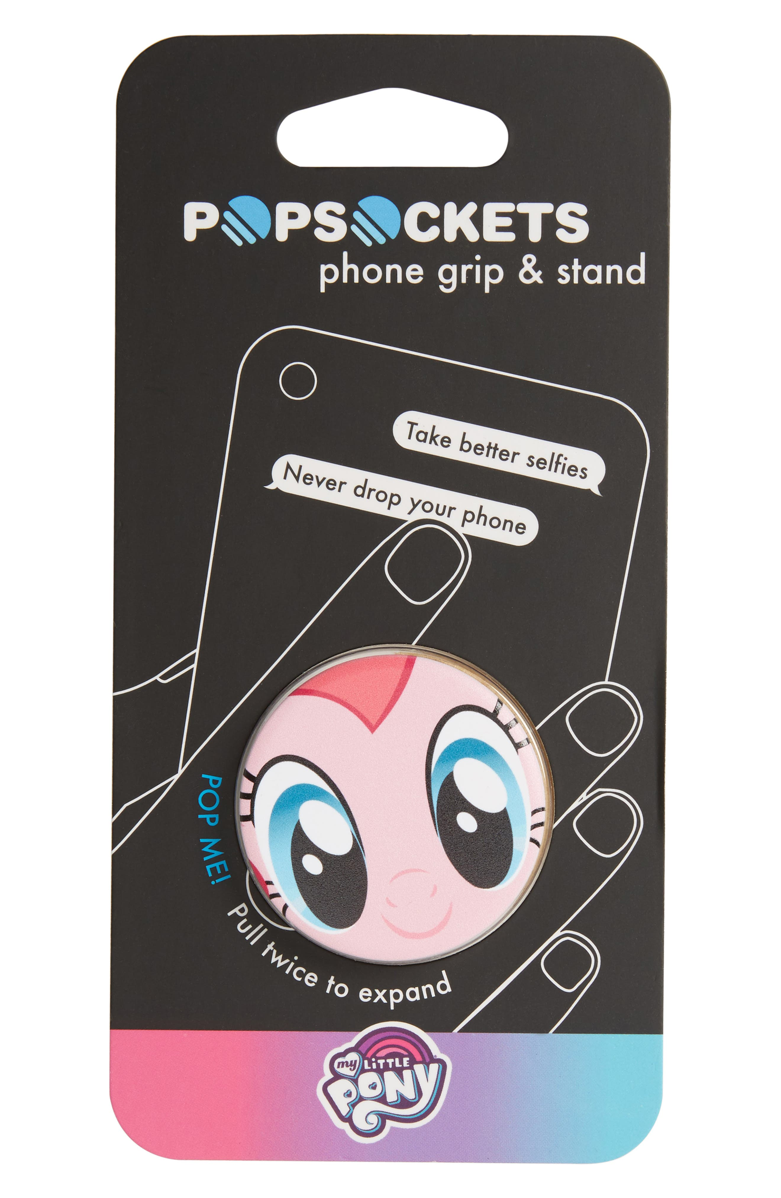 My Little Ponies - Pinkie Pie Cell Phone Grip & Stand,                             Main thumbnail 1, color,                             650