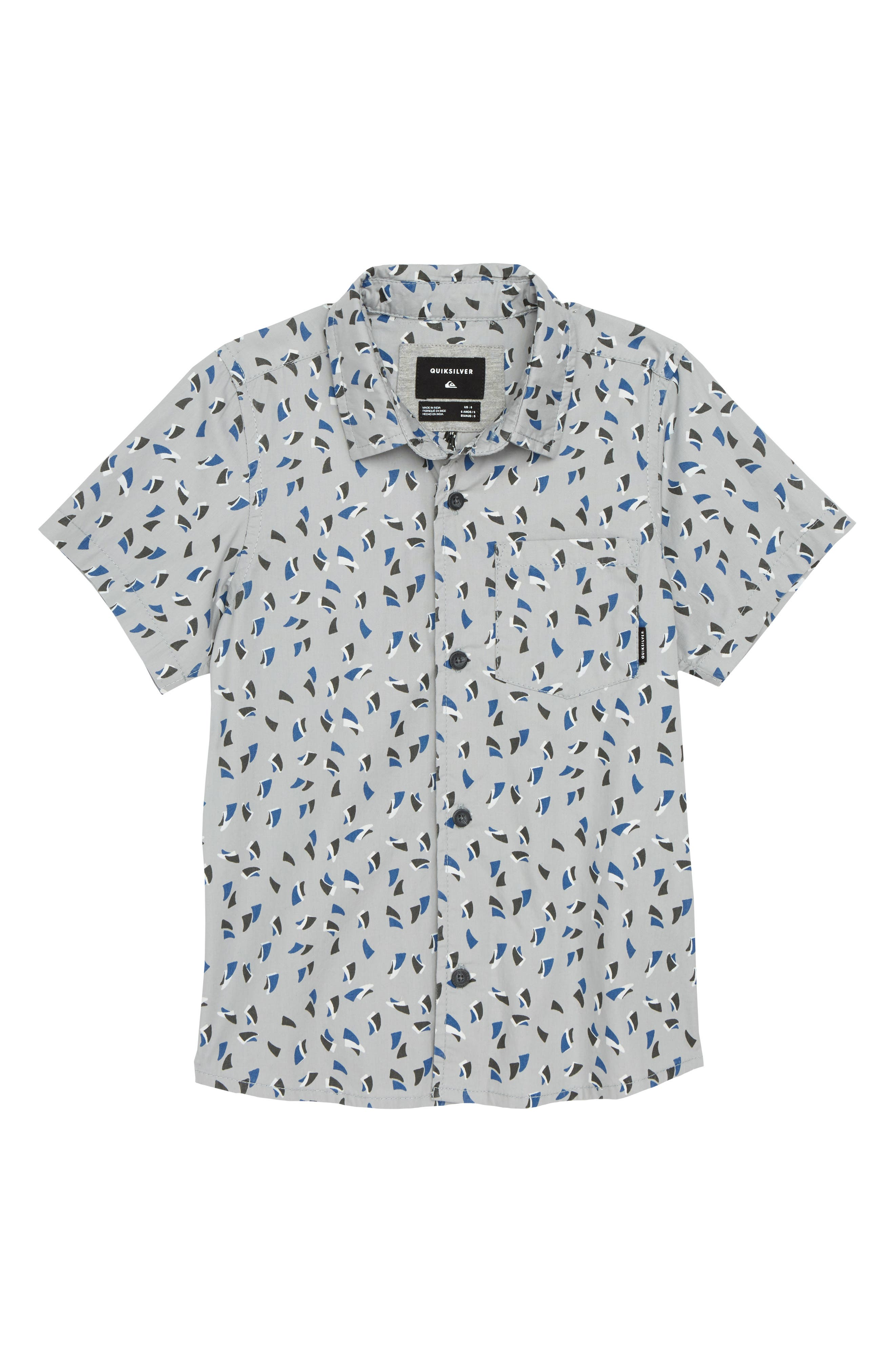 Akan Waters Woven Shirt,                             Main thumbnail 1, color,                             SLEET MECHANICAL